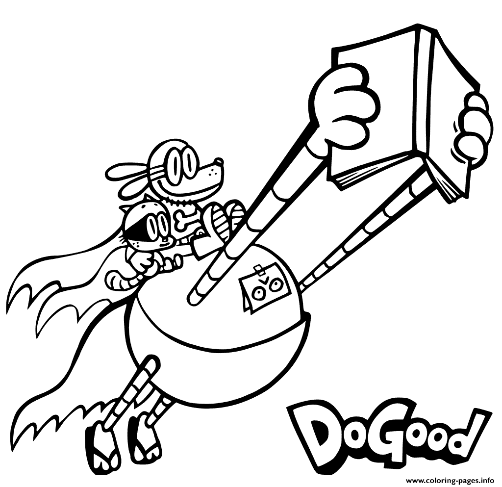 Dog Man With Friends Coloring Pages Printable