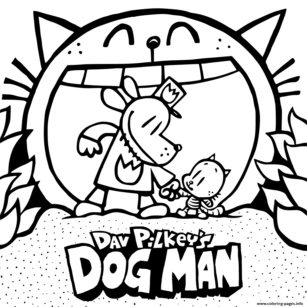 Dog Man Lords Of The Fleas Coloring Page Coloring Pages Printable