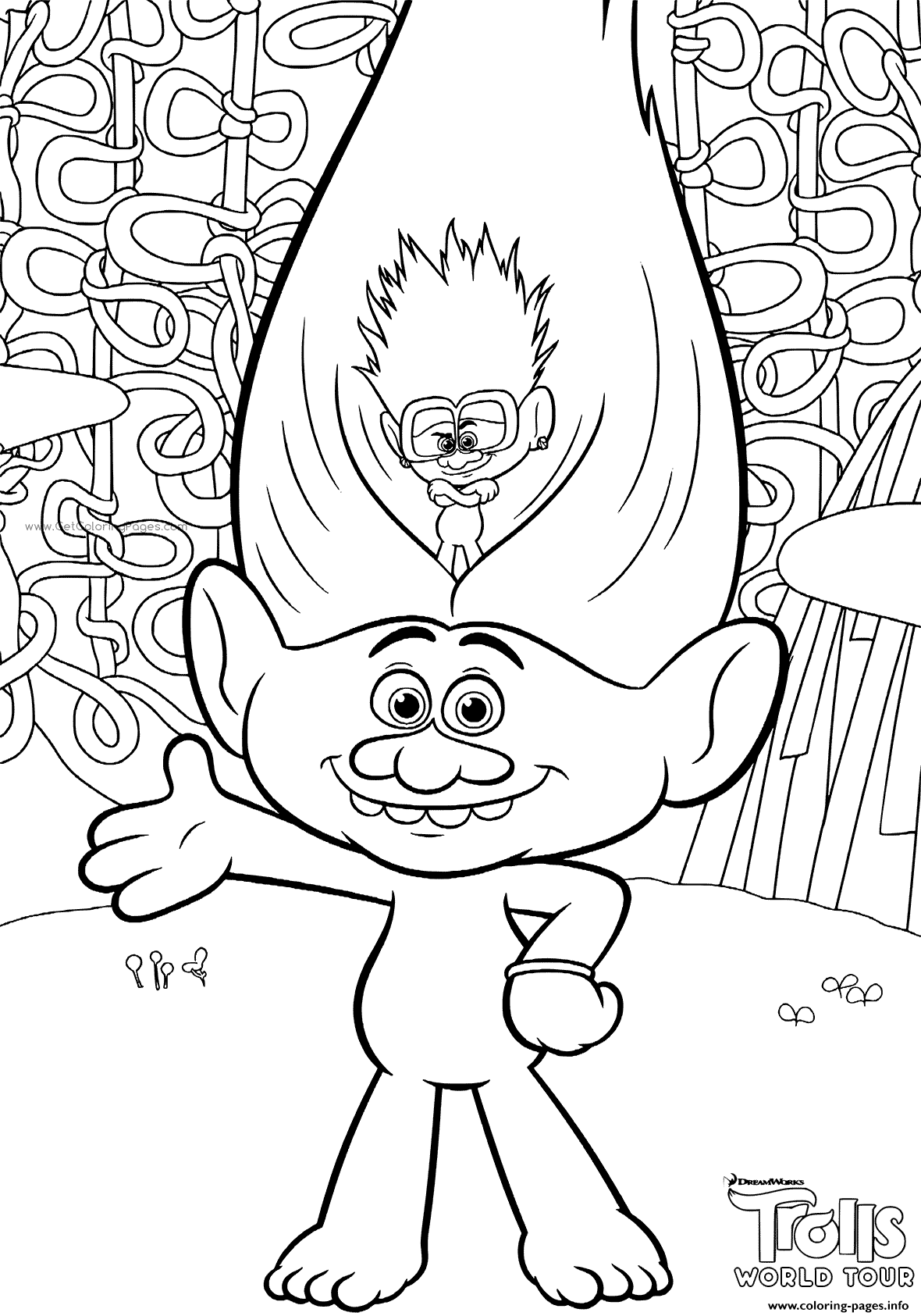 Trolls 2 Coloring Pages Printable