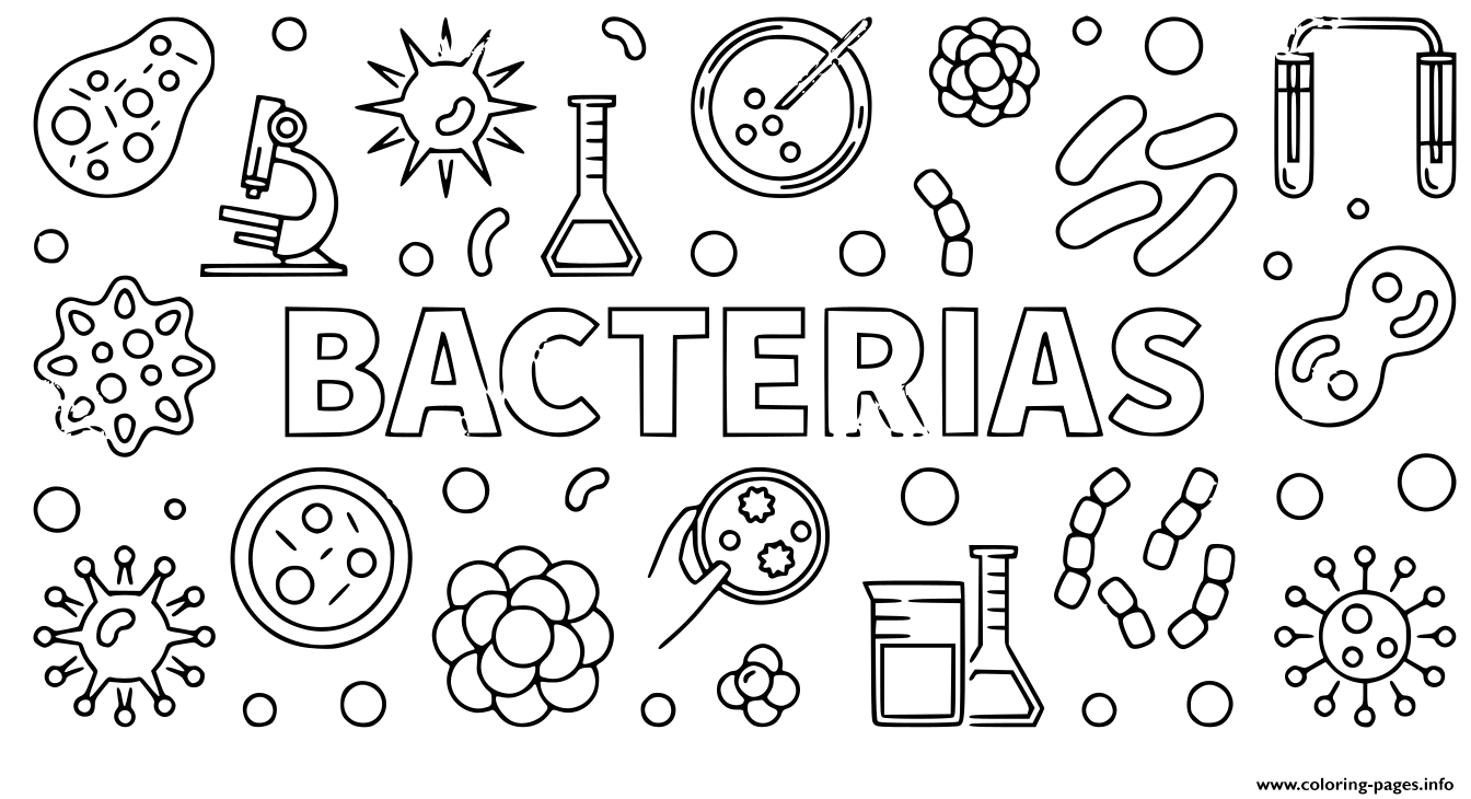 Bacterias Codvid 19 Coronavirus Coloring Pages Printable