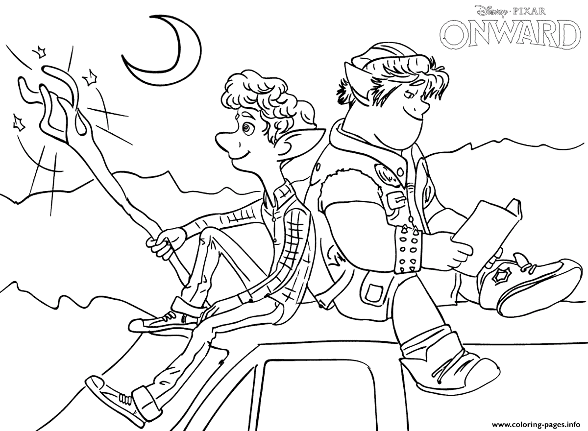 Onward On The Car Coloring Pages Printable