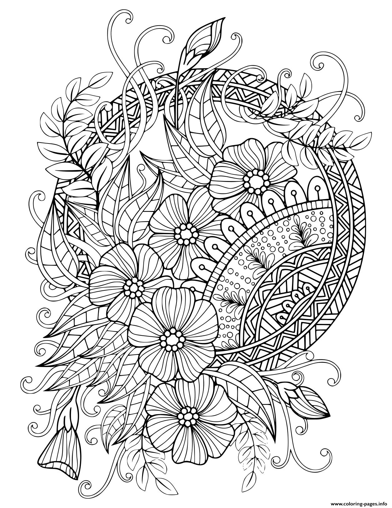 Mandala Adult Floral Nature 2020 Coloring Pages Printable