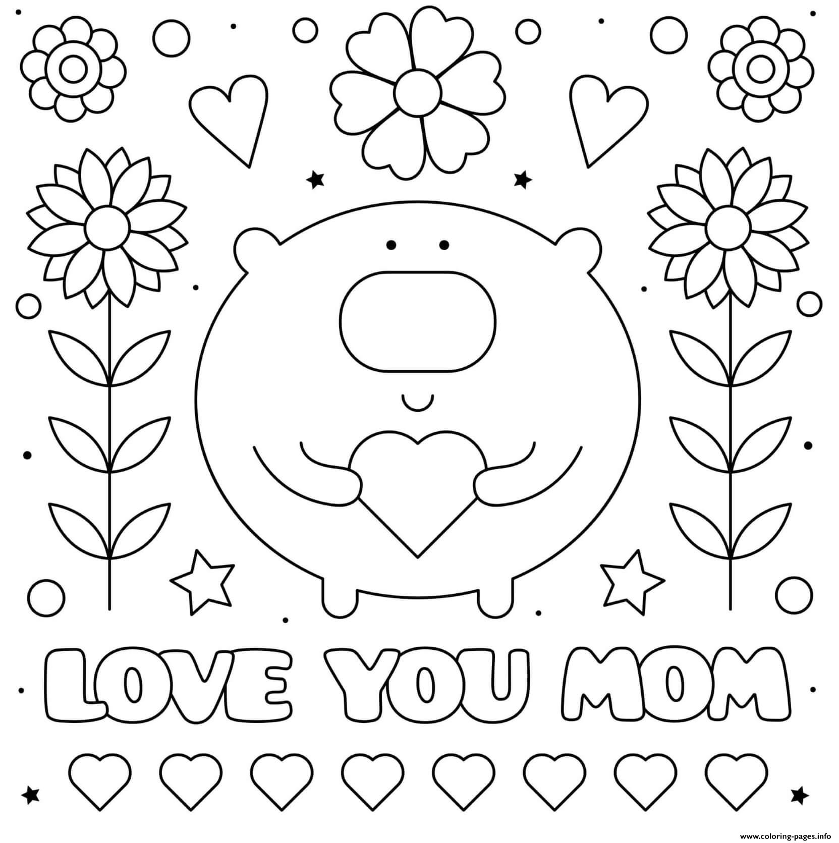 FREE Printable Coloring Pages for Mom | Mothers day coloring pages ... | 1671x1663