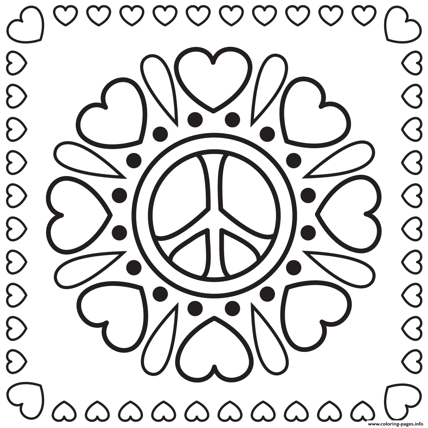 Peace Man ☮ | Cool coloring pages, Easy coloring pages, Coloring pages | 1400x1400