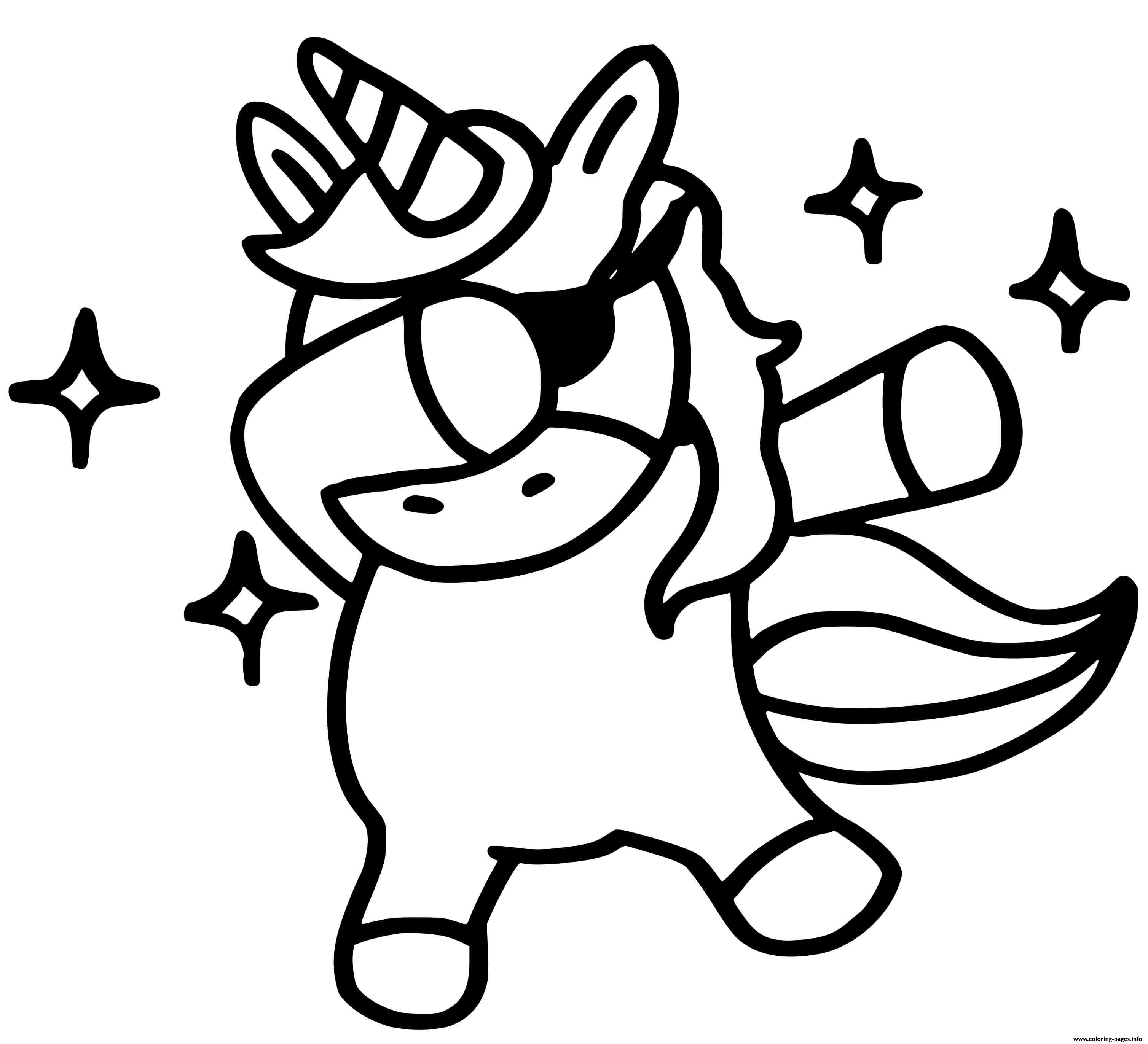 Unicorn Emoji Dab Coloring Pages Printable