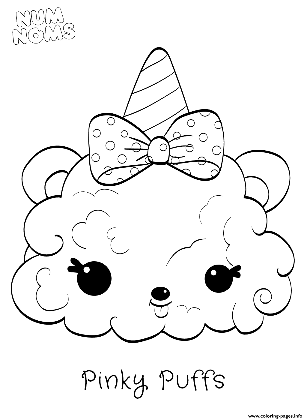 Pinky Puffs From Num Noms Series 2 Coloring Pages Printable