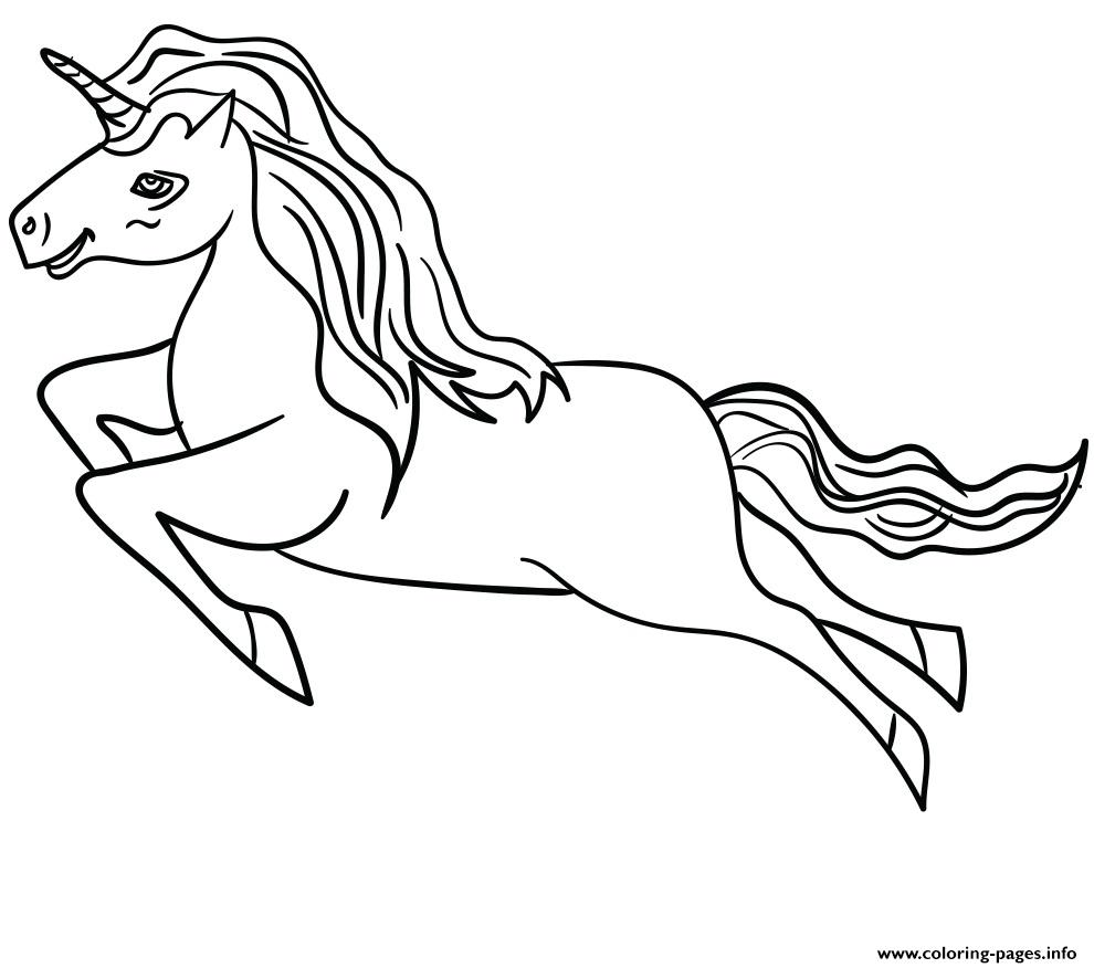 Beautiful White Unicorn A4 Coloring Pages Printable