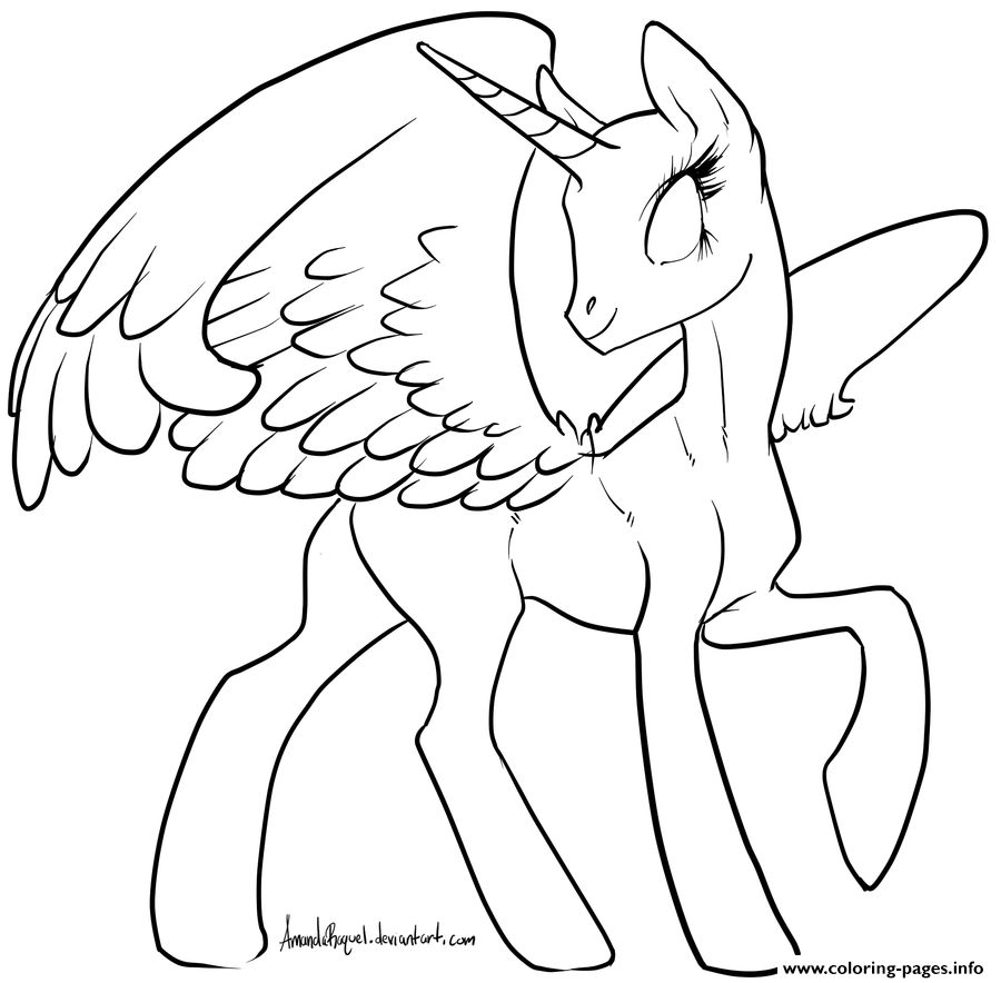 Alicorn Cute Baby coloring pages
