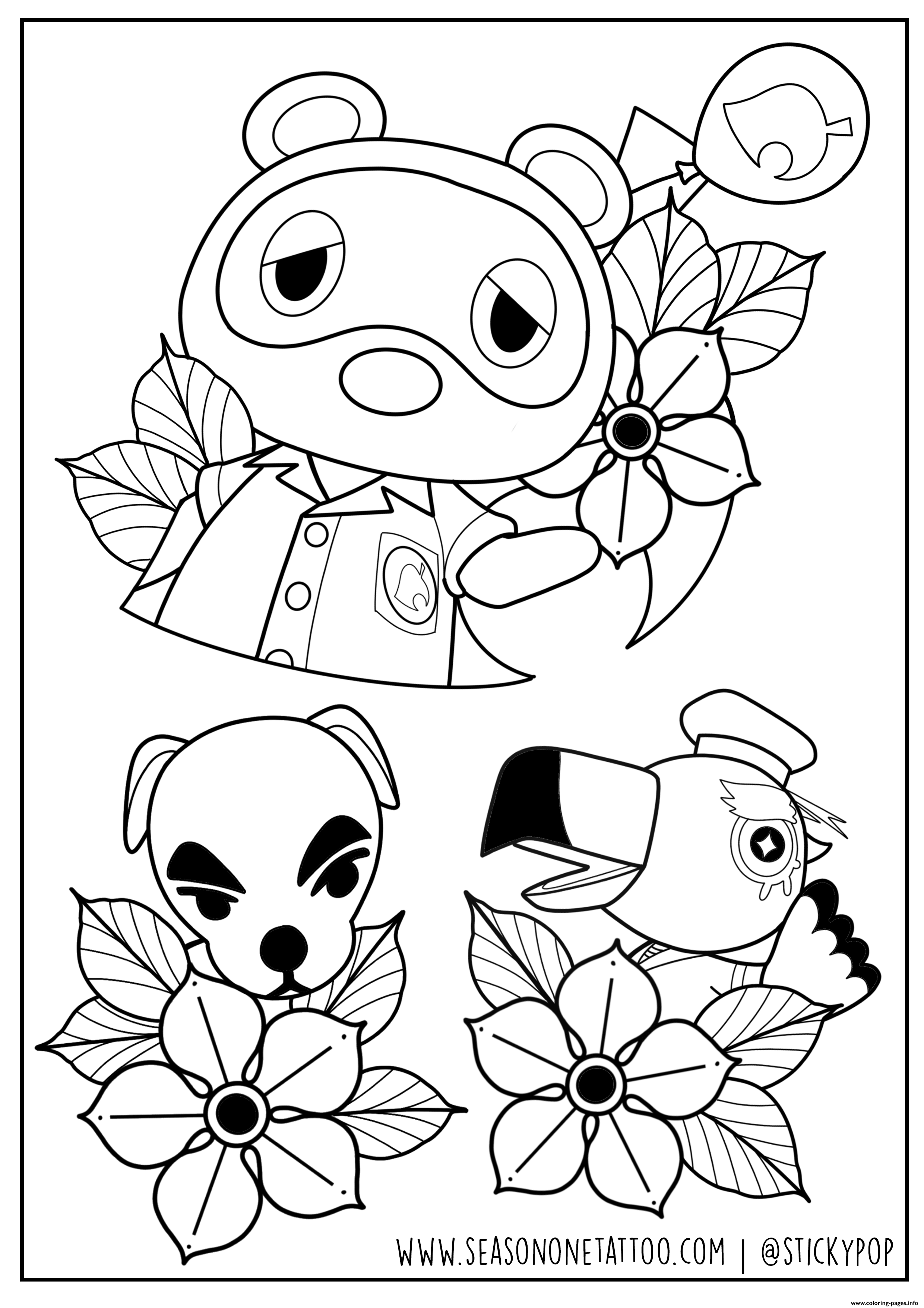 Animal Crossing By Stickypop coloring pages