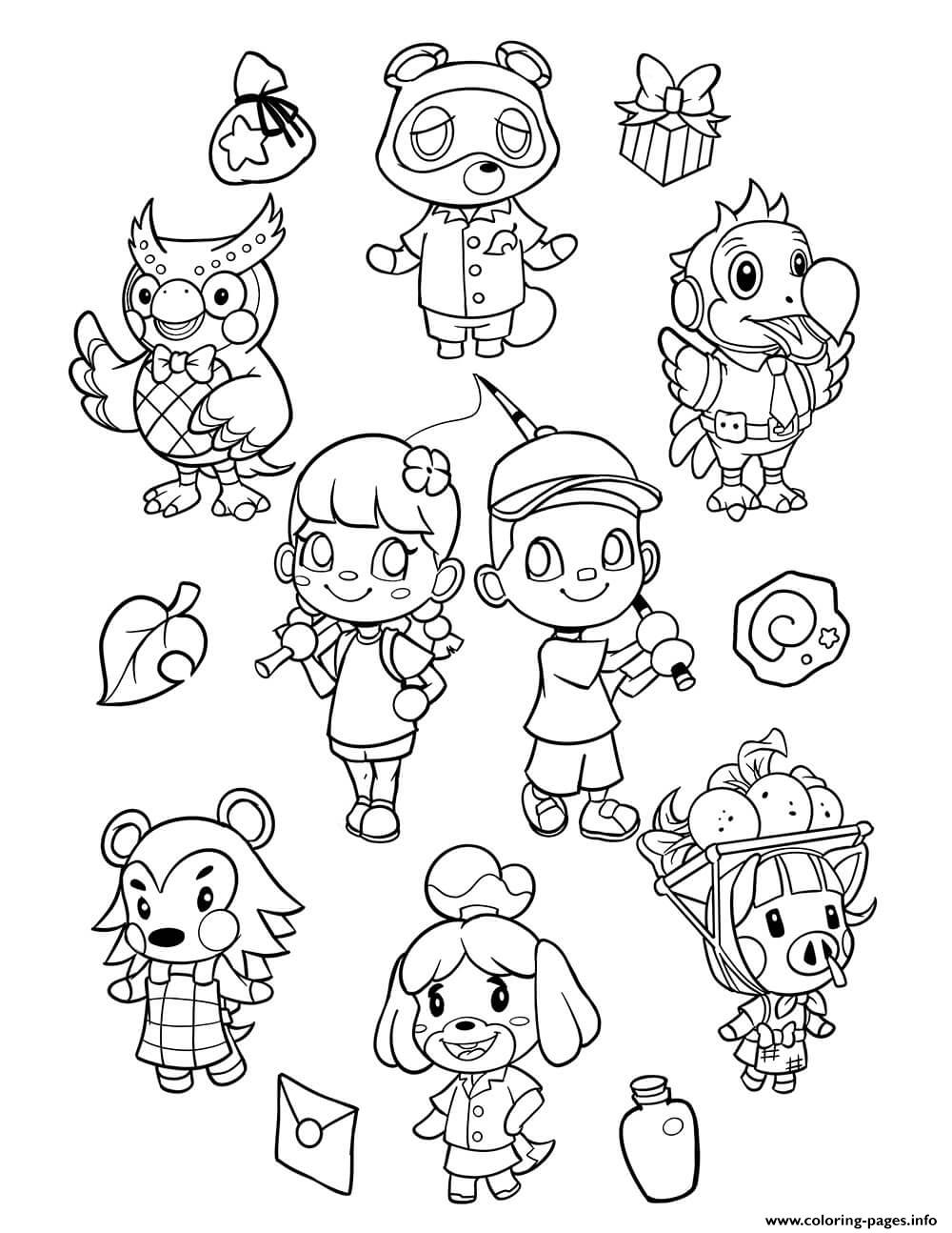 Animal Crossing New Horizons coloring pages