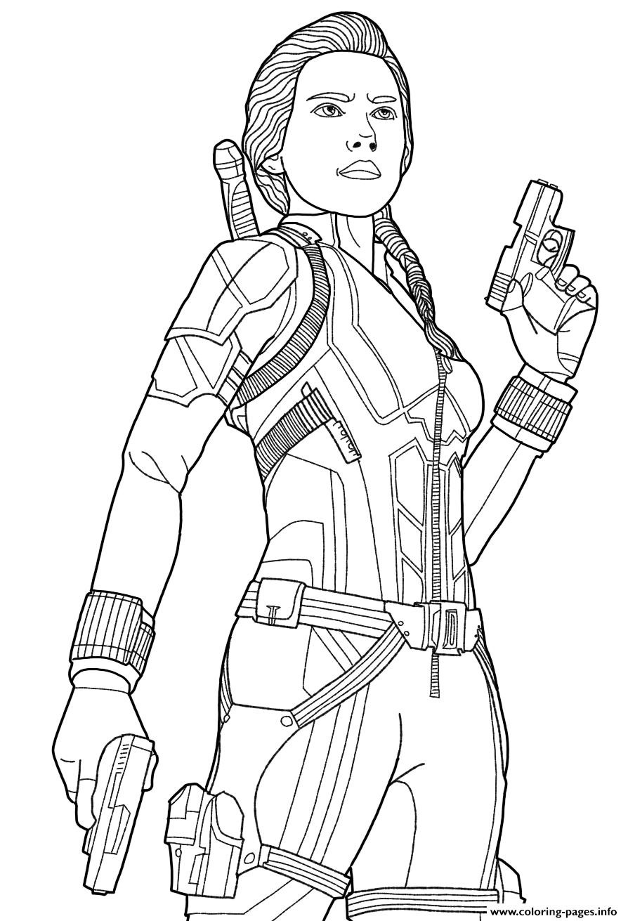 Black Widow Endgame Coloring Pages Printable