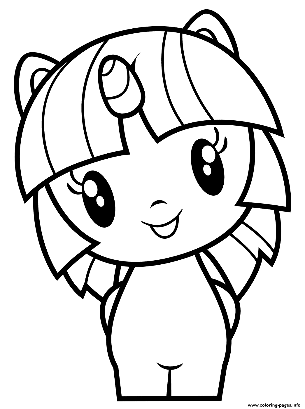 Little Pony Twilight Sparkle Coloring Pages Printable