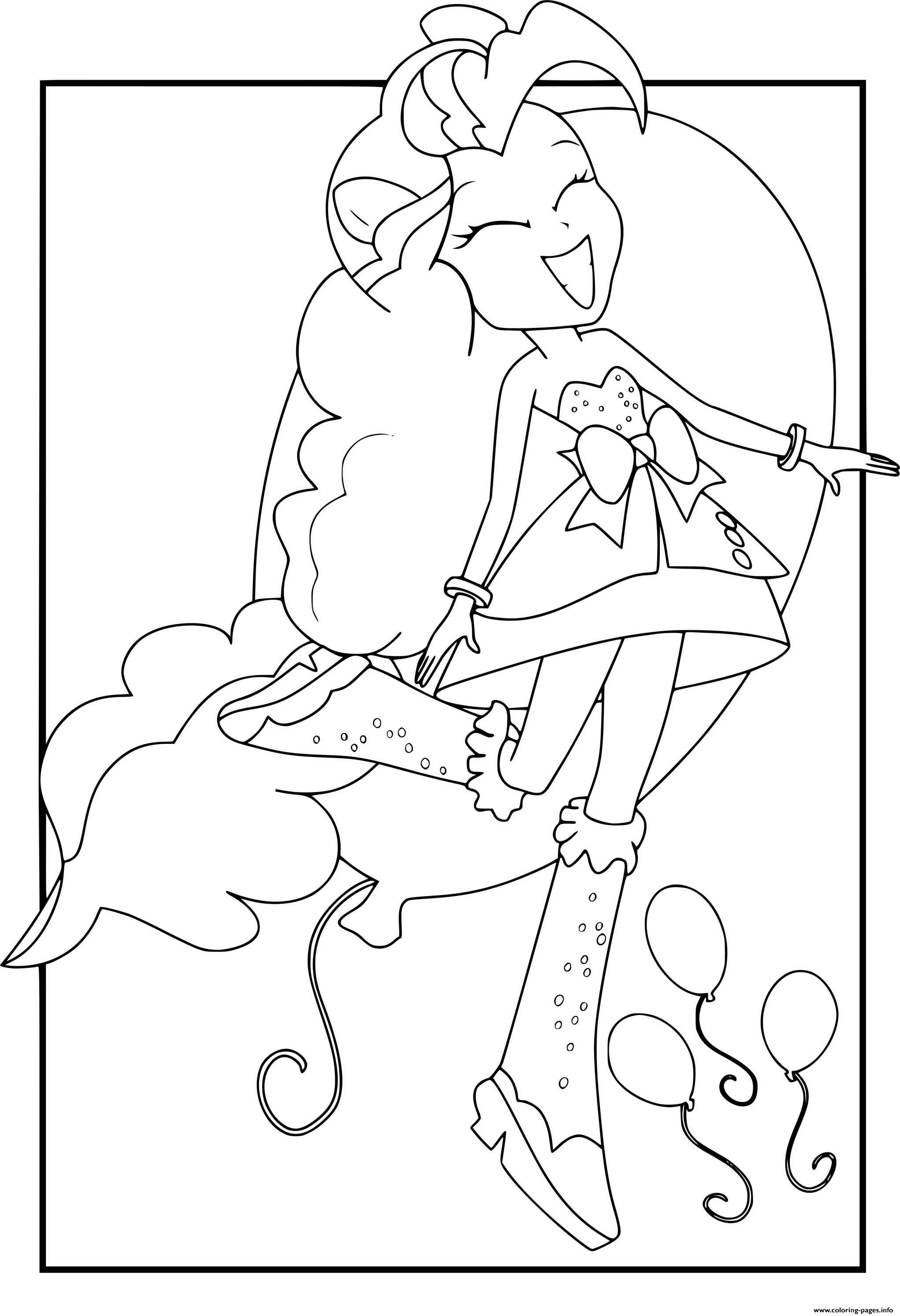 My Little Pony Girls Pinkie Pie coloring pages