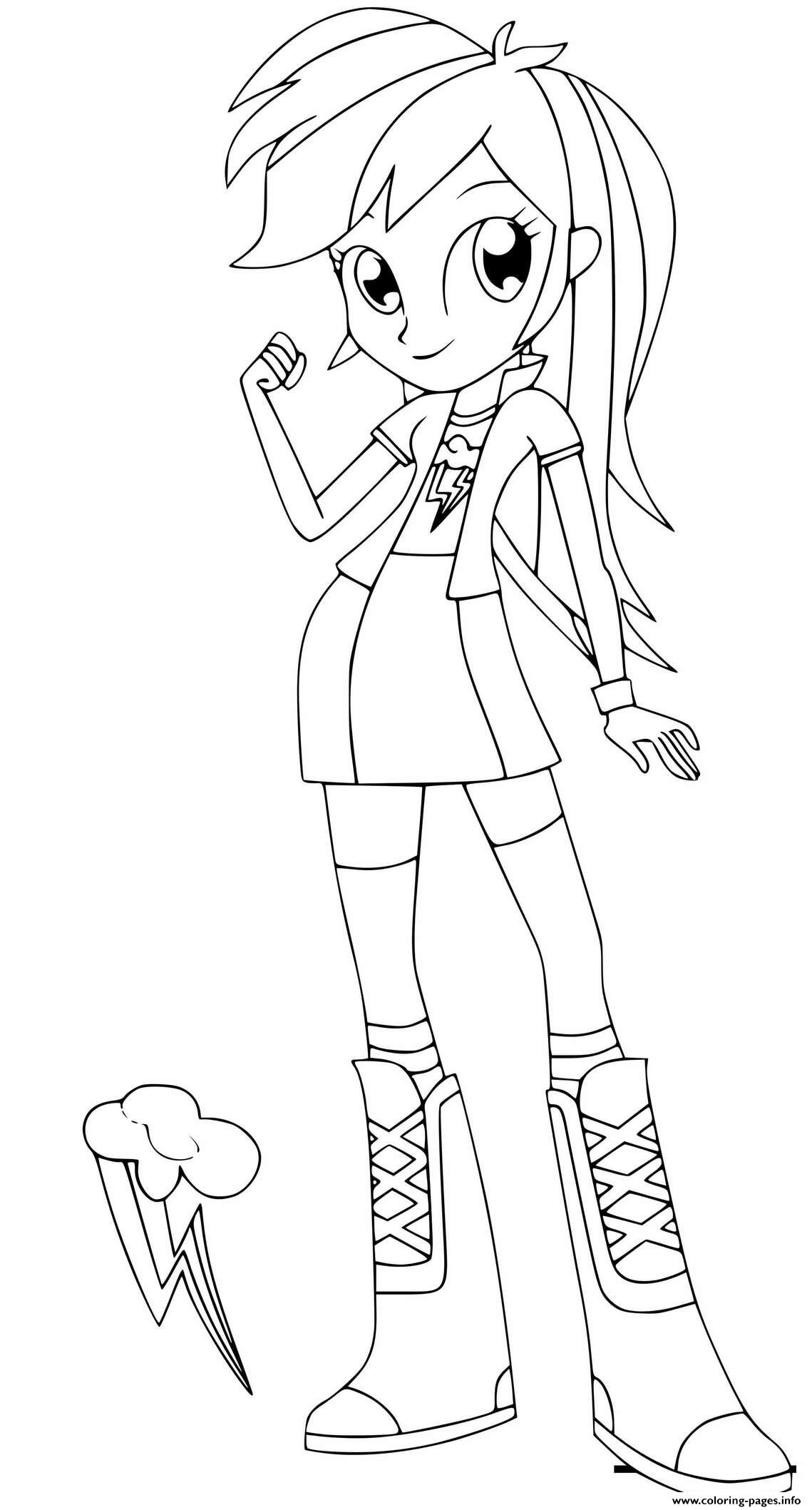 Equestria Girls Rainbow Dash coloring pages