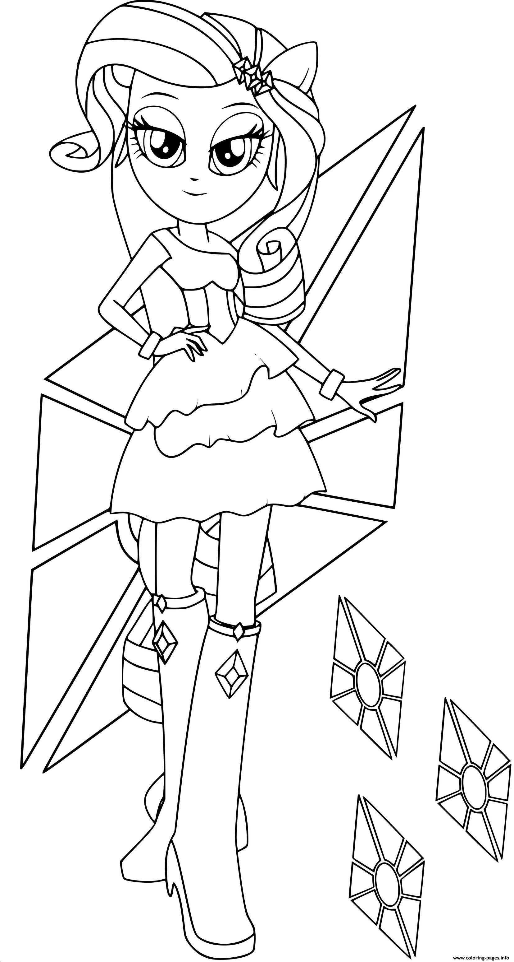 Rarity In Equestria Girls coloring pages