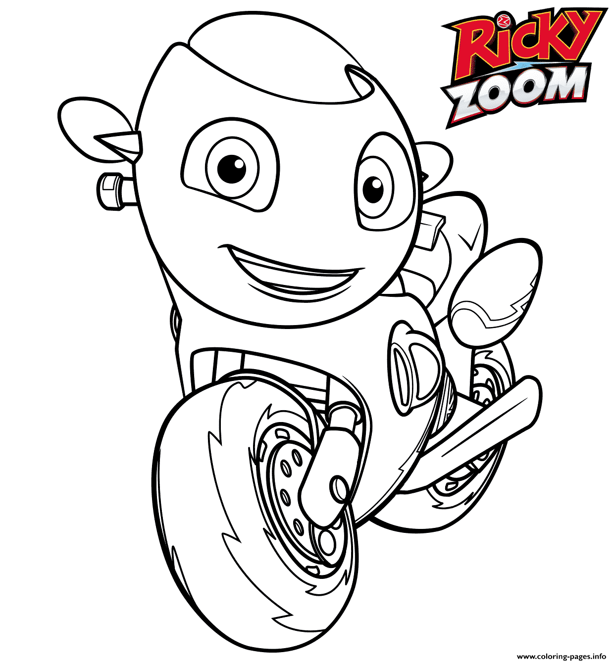Ricky Is A Little Red Rescue Bike Who Loves To Go Fast Coloring Pages Printable