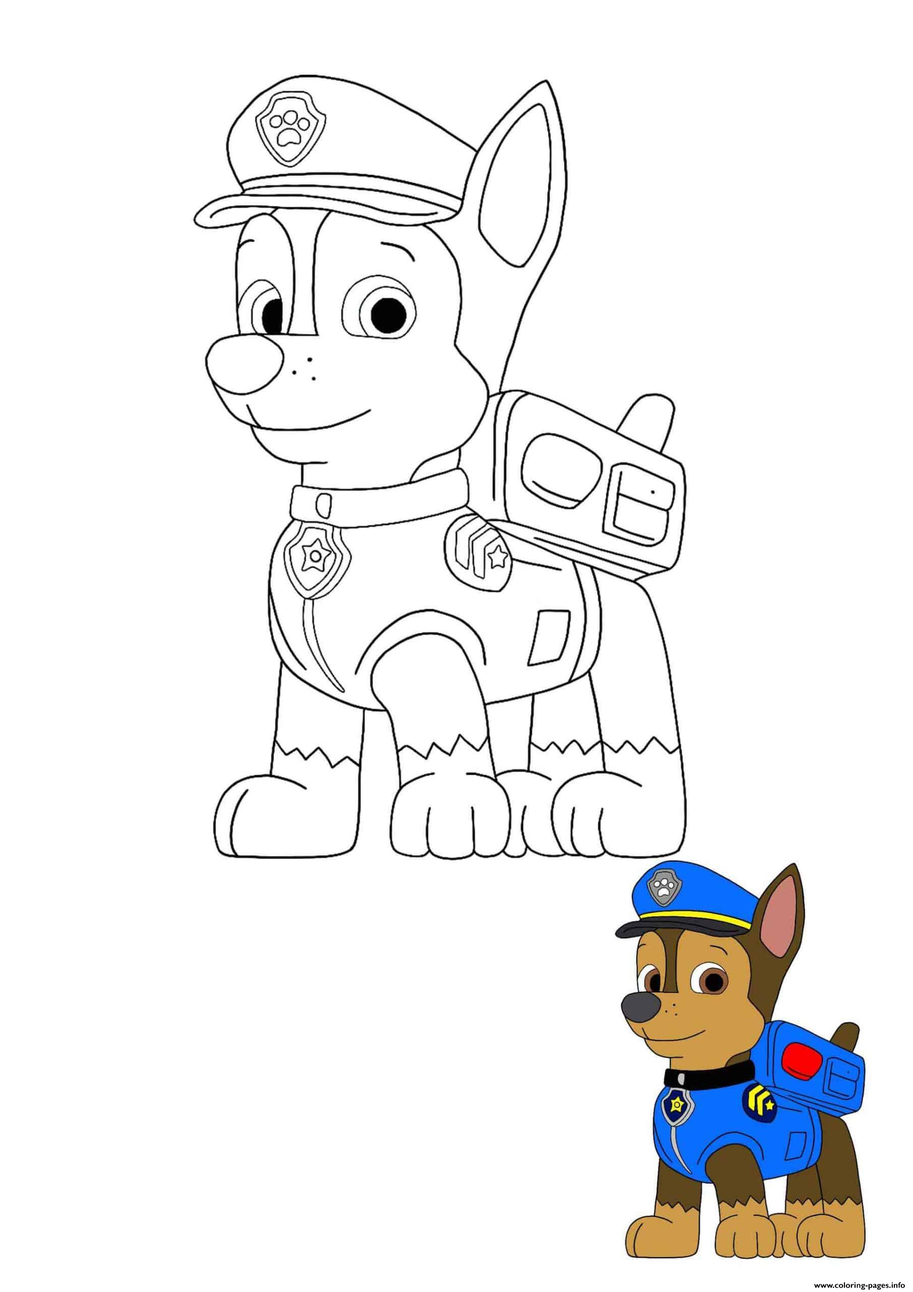 Chase Super Spy Paw Patrol Member No 2 Coloring Pages ...