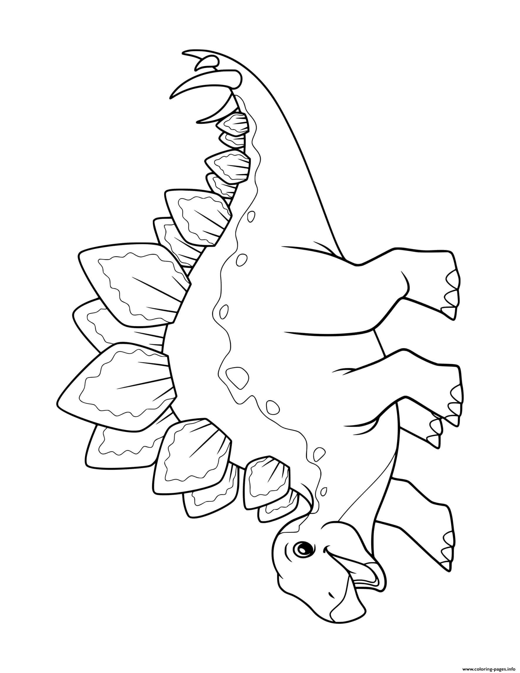 Dinosaur Stegosaurus For Preschoolers Coloring Pages Printable