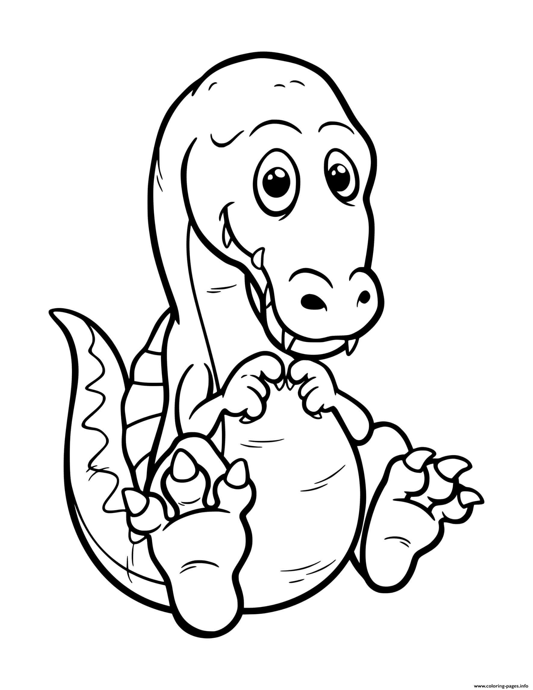 Dinosaur Cute Baby Spinosaurus Coloring Pages Printable