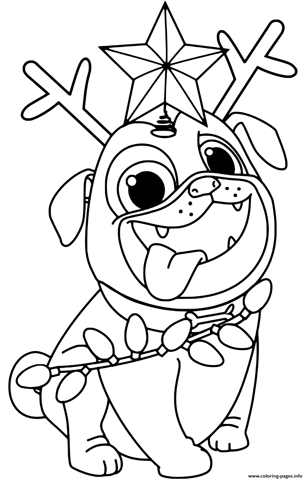 Christmas Tree Puppy Dog Pals Rolly Printable Coloring ...