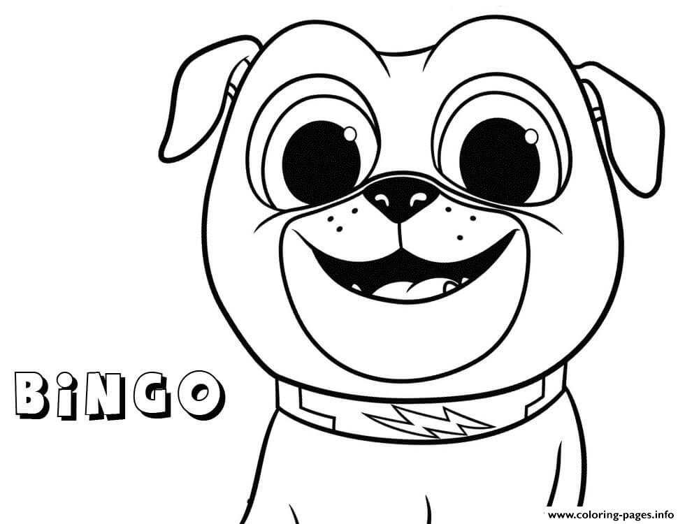 Bingo From Puppy Dog Pals Kids Coloring Pages Printable