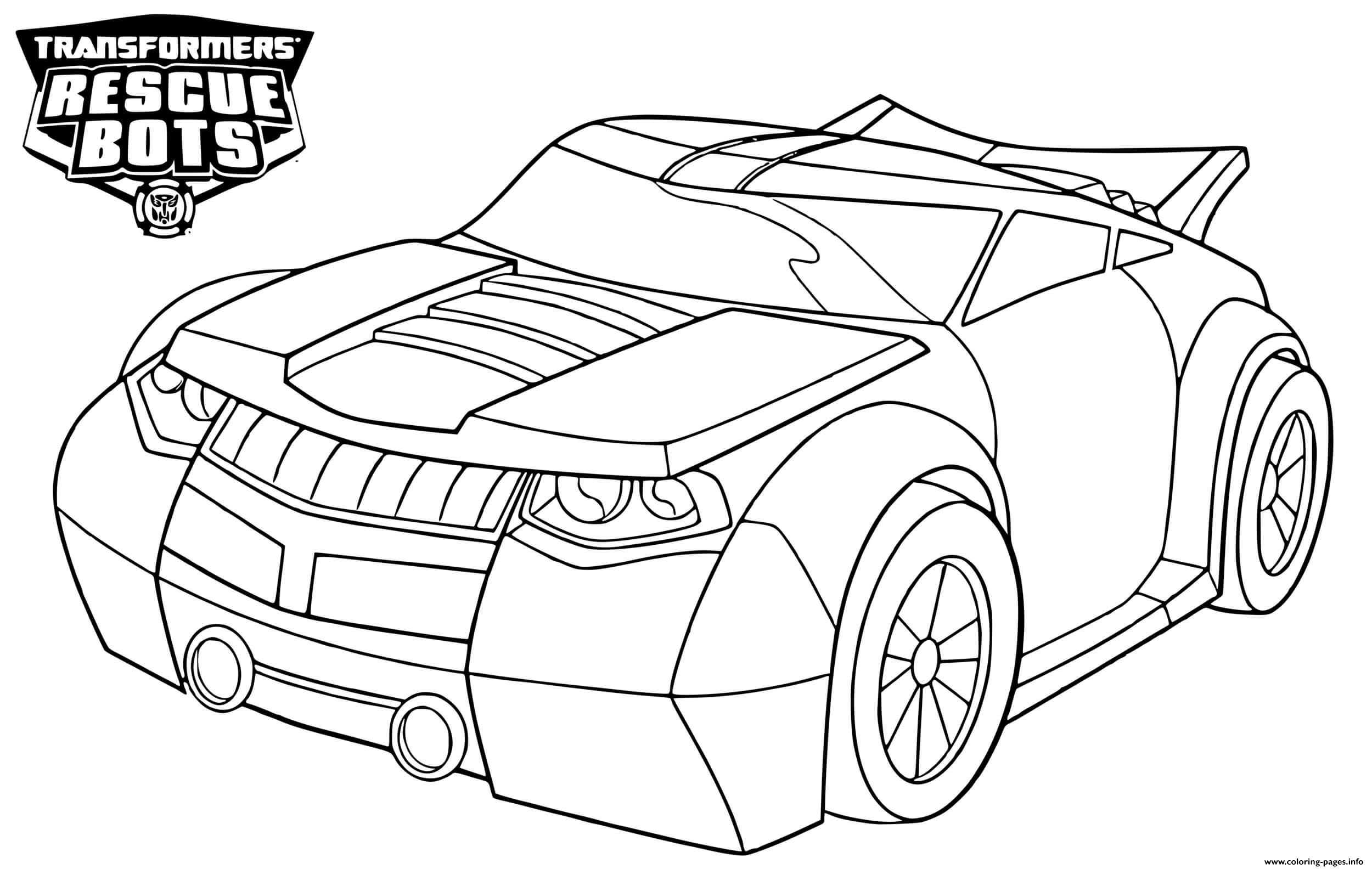 Transformers Rescue Bots Bumblebee Coloring Pages Printable