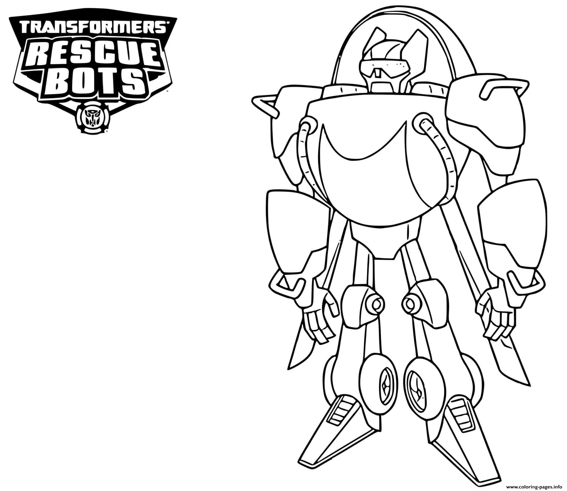 Transformers Rescue Bots Blades Coloring Pages Printable
