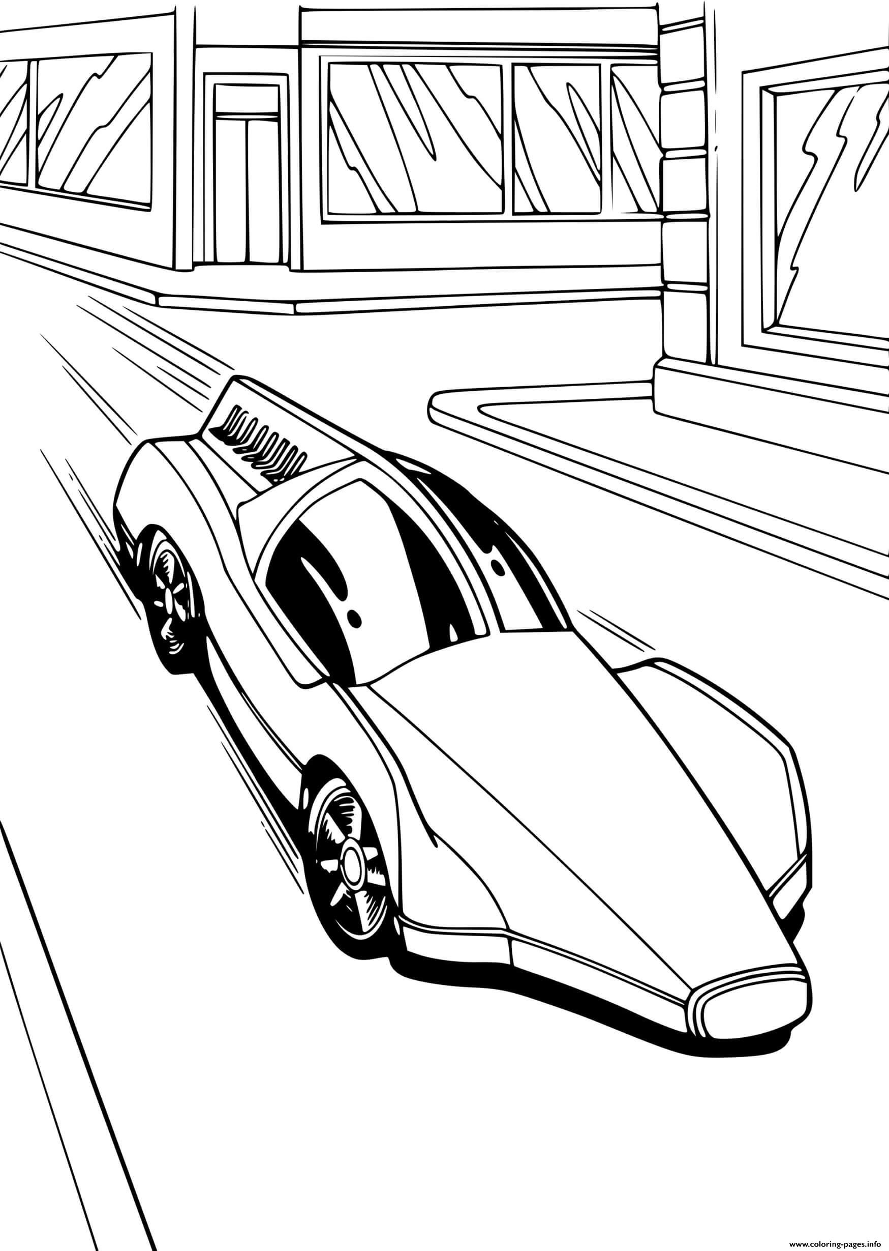 hot wheels fast car coloring pages printable