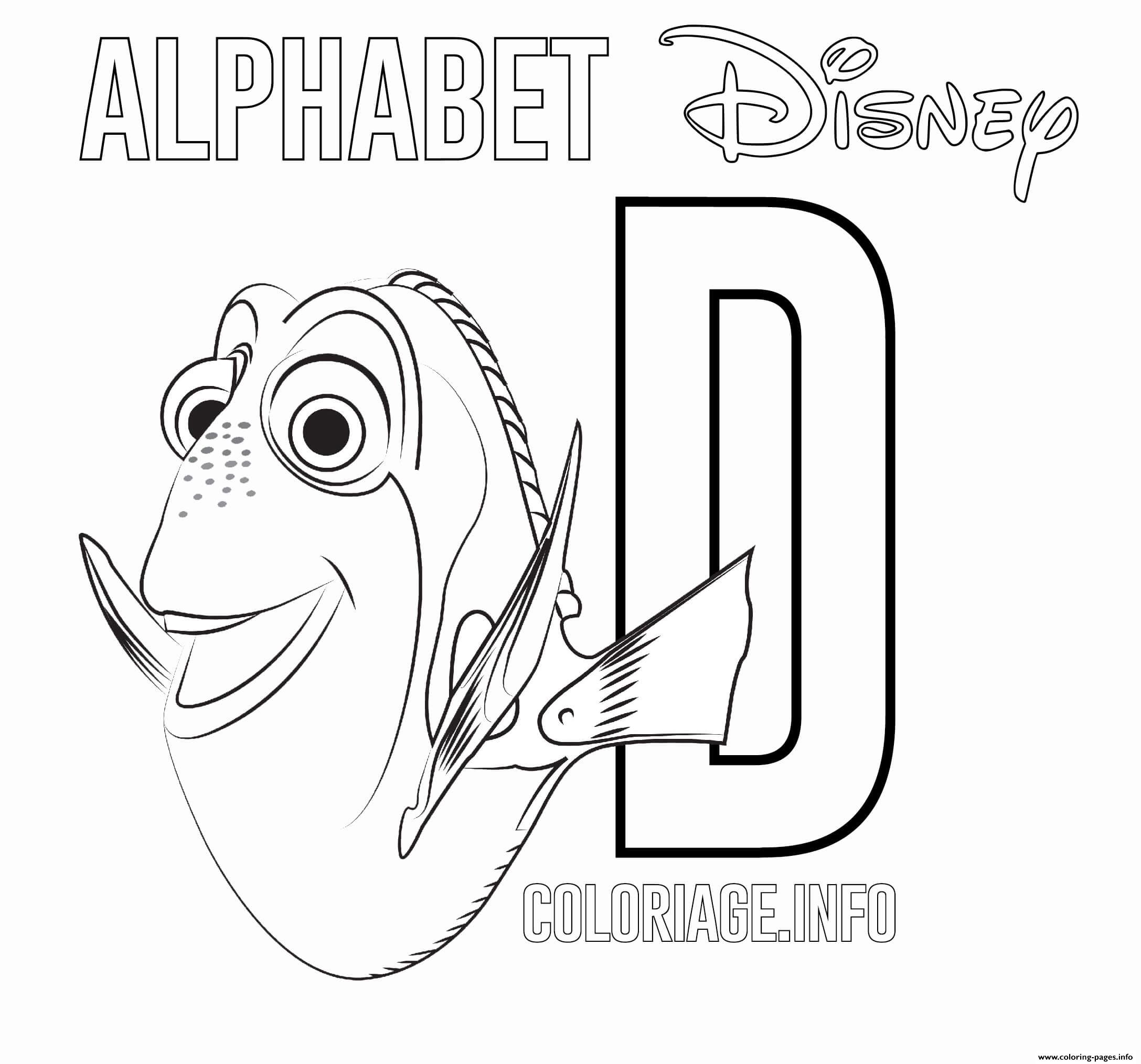 D For Dory coloring pages