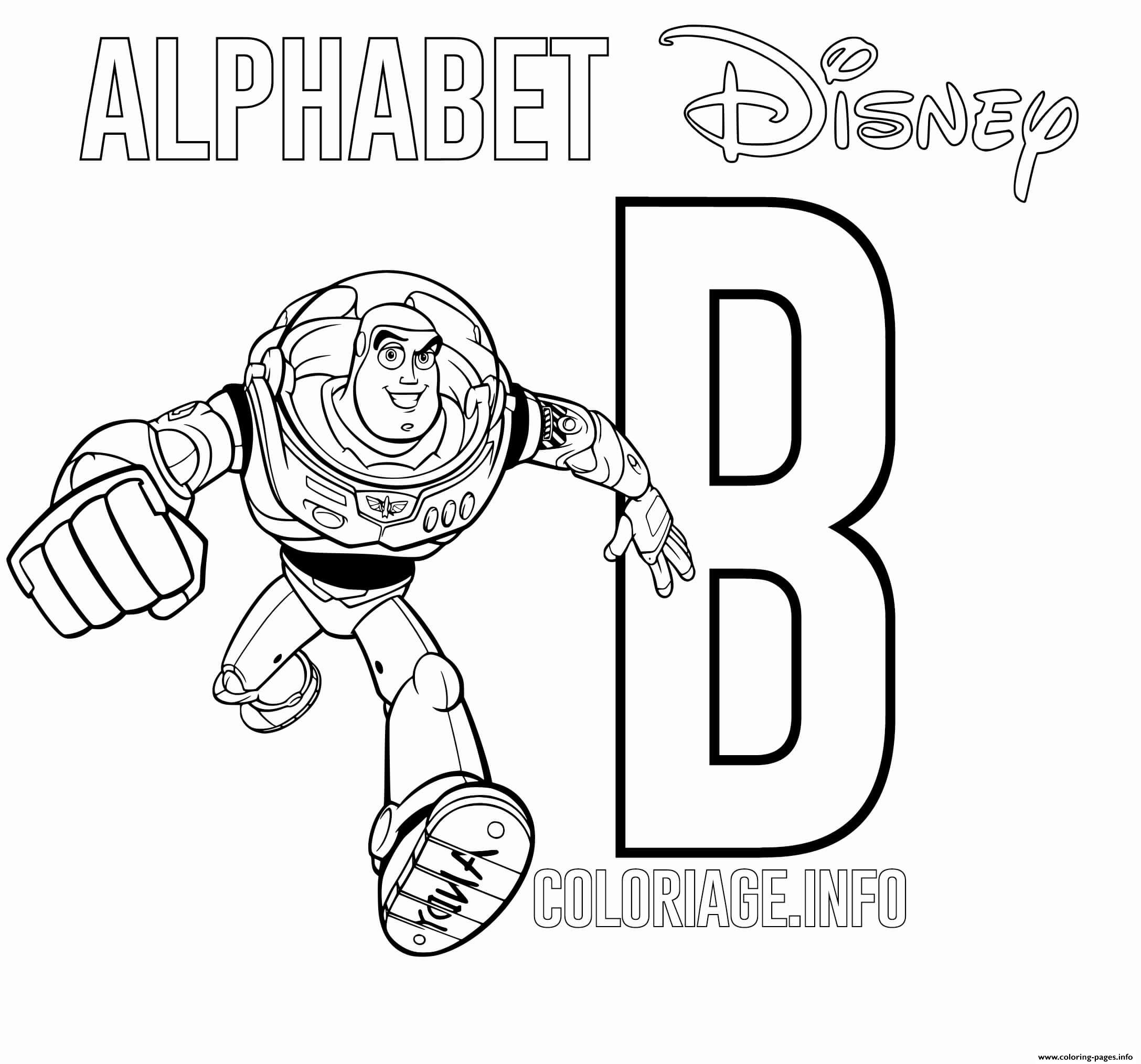 B For Buzz From Toy Story coloring pages