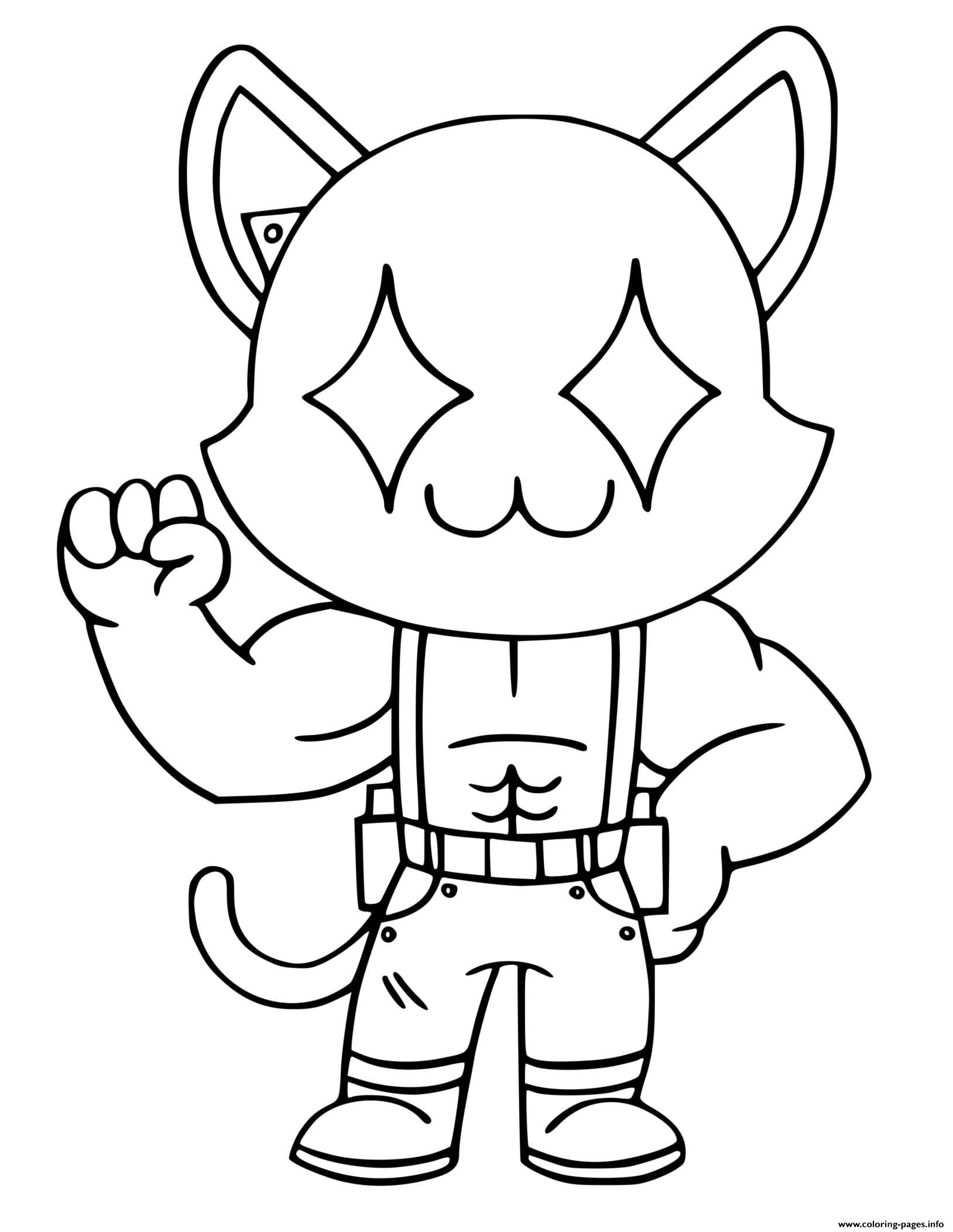 Ghost Meowscles Coloring Pages Printable
