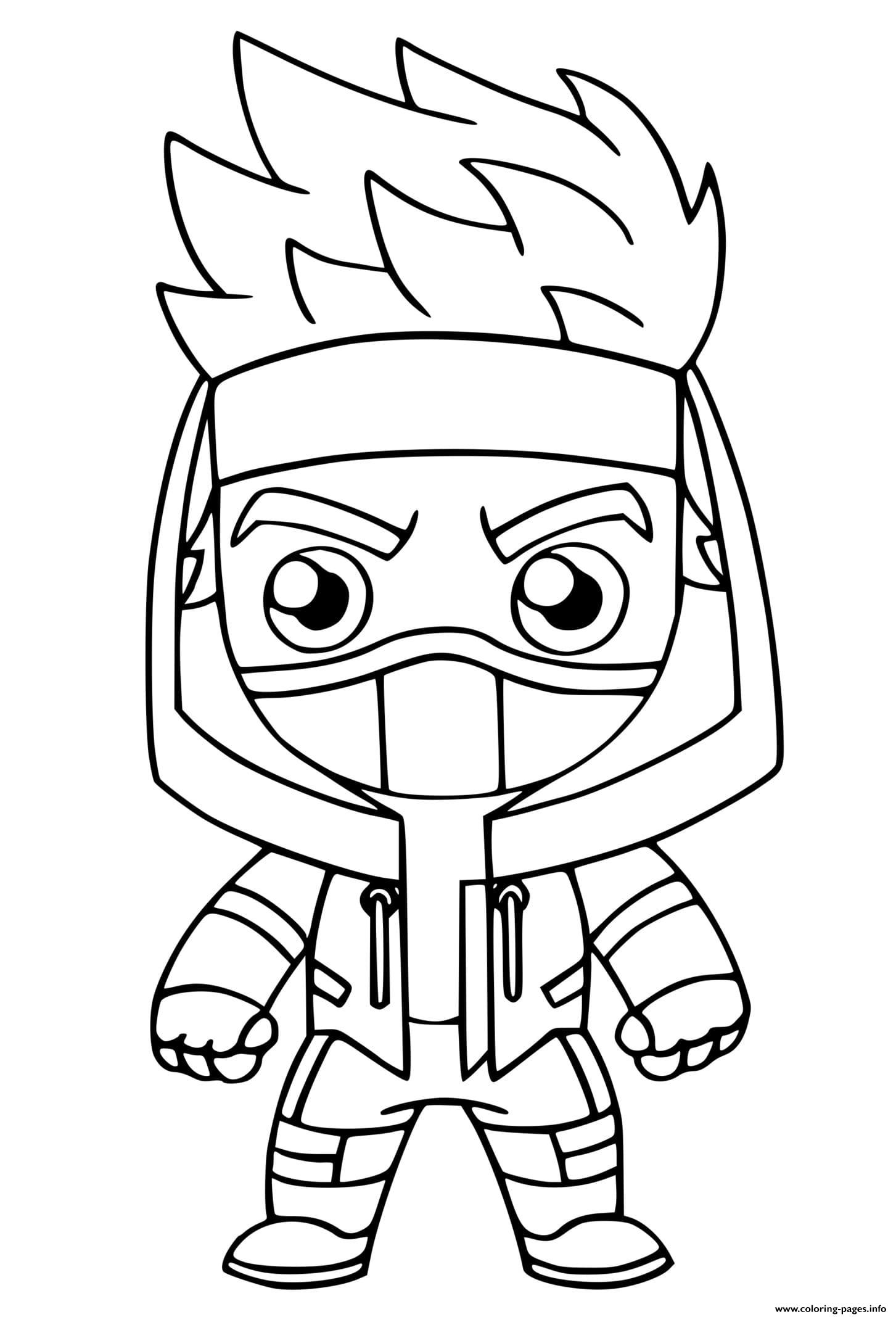 Ninja Fortnite coloring pages