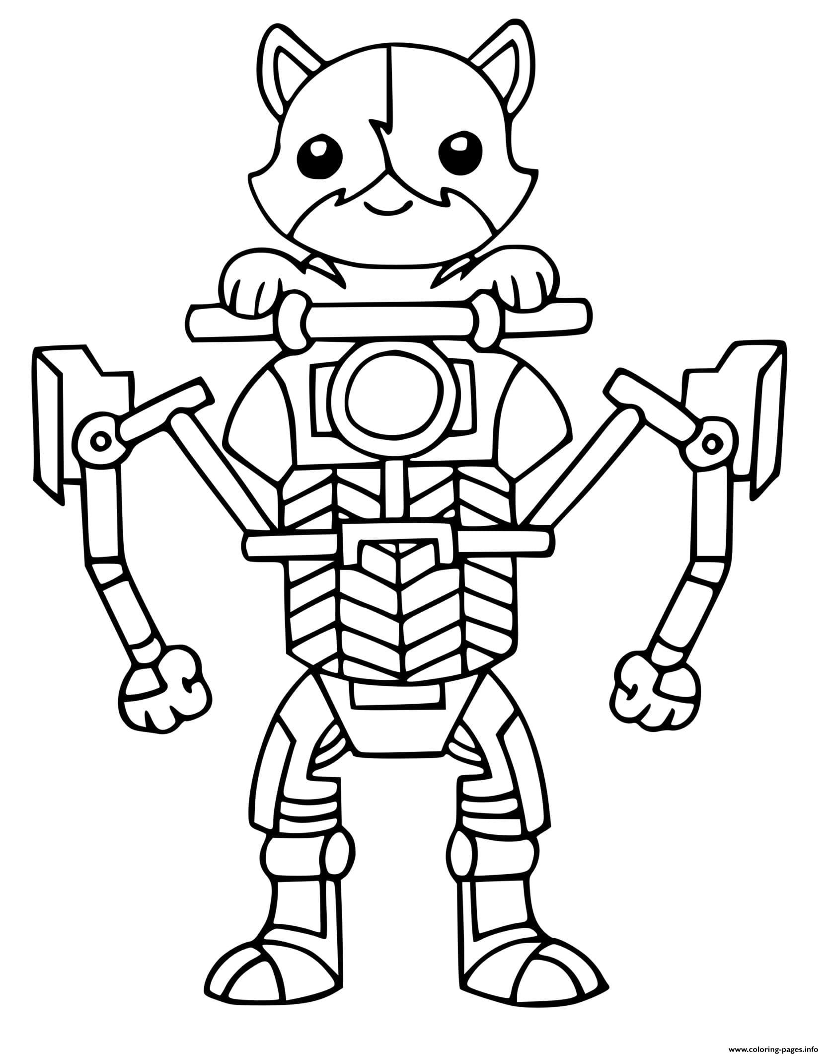 Kit Cat Fortnite Coloring Pages Printable