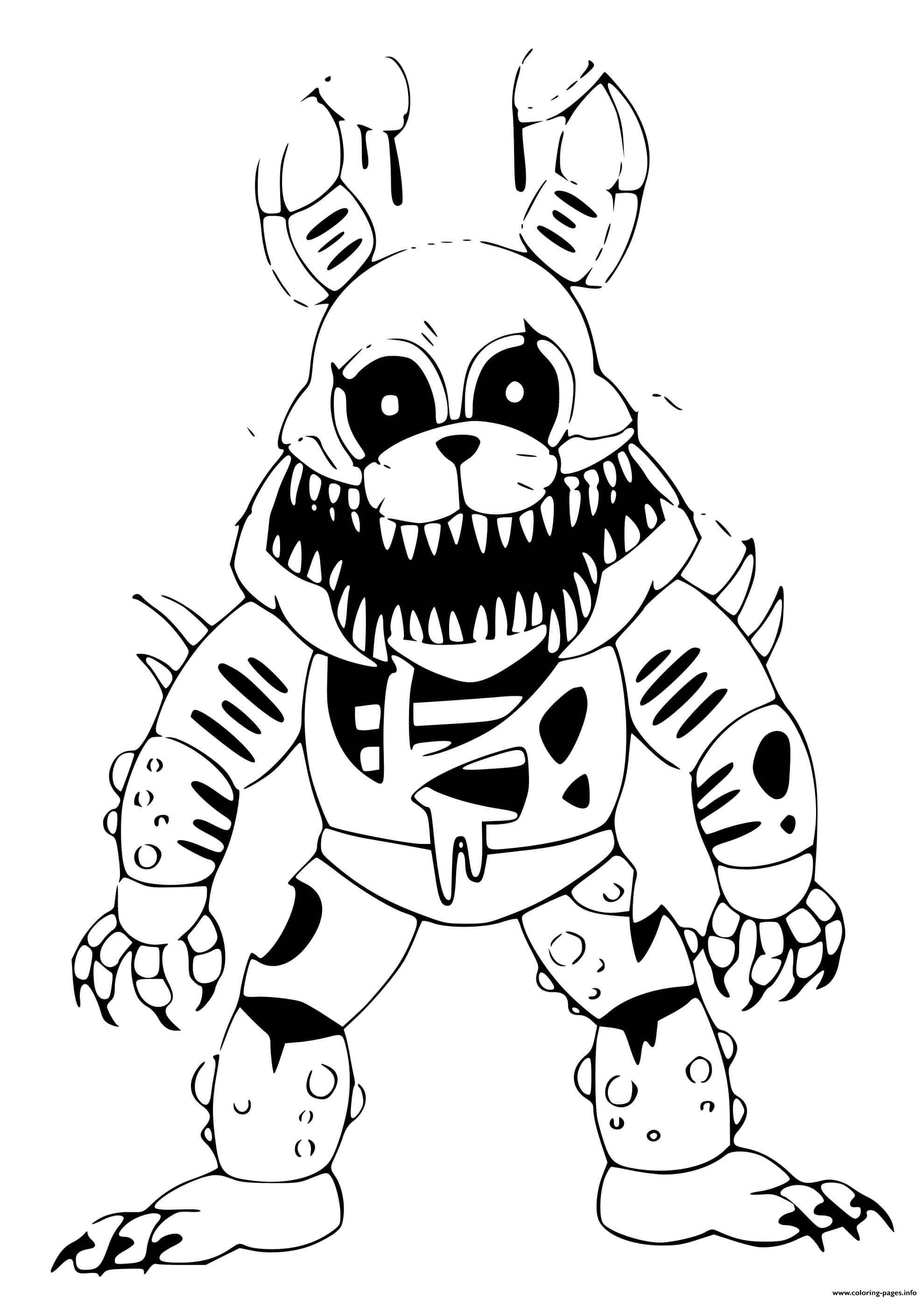 Twisted Bonnie Coloring Pages Printable