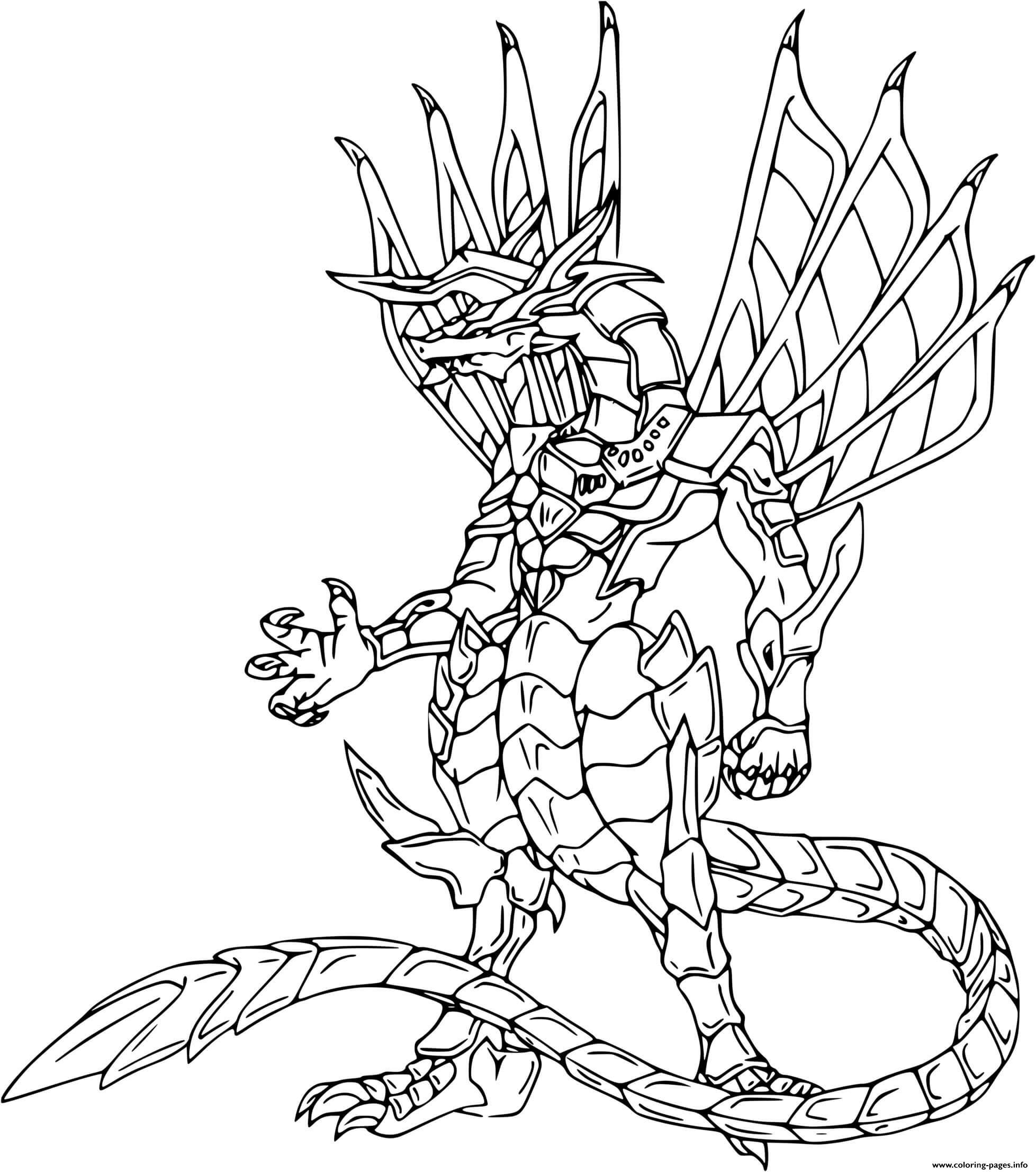 Bakugan Drago Coloring Pages Printable