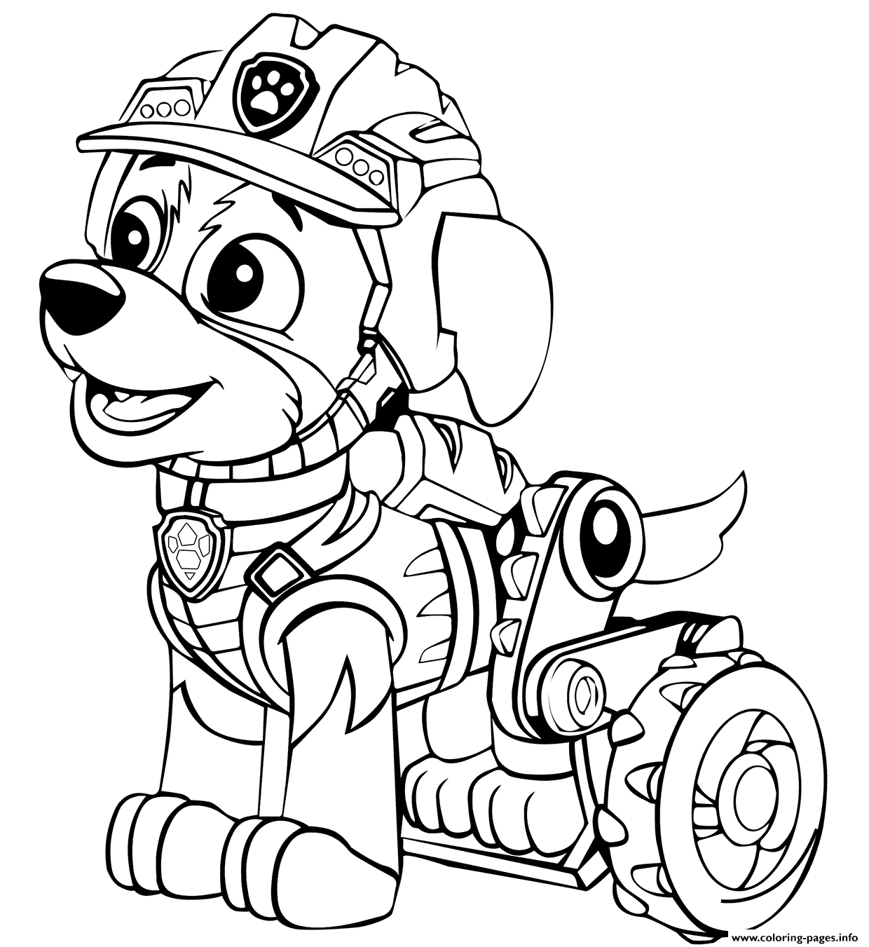 Paw Patrol Dino Rescue Rex Coloring Pages Printable