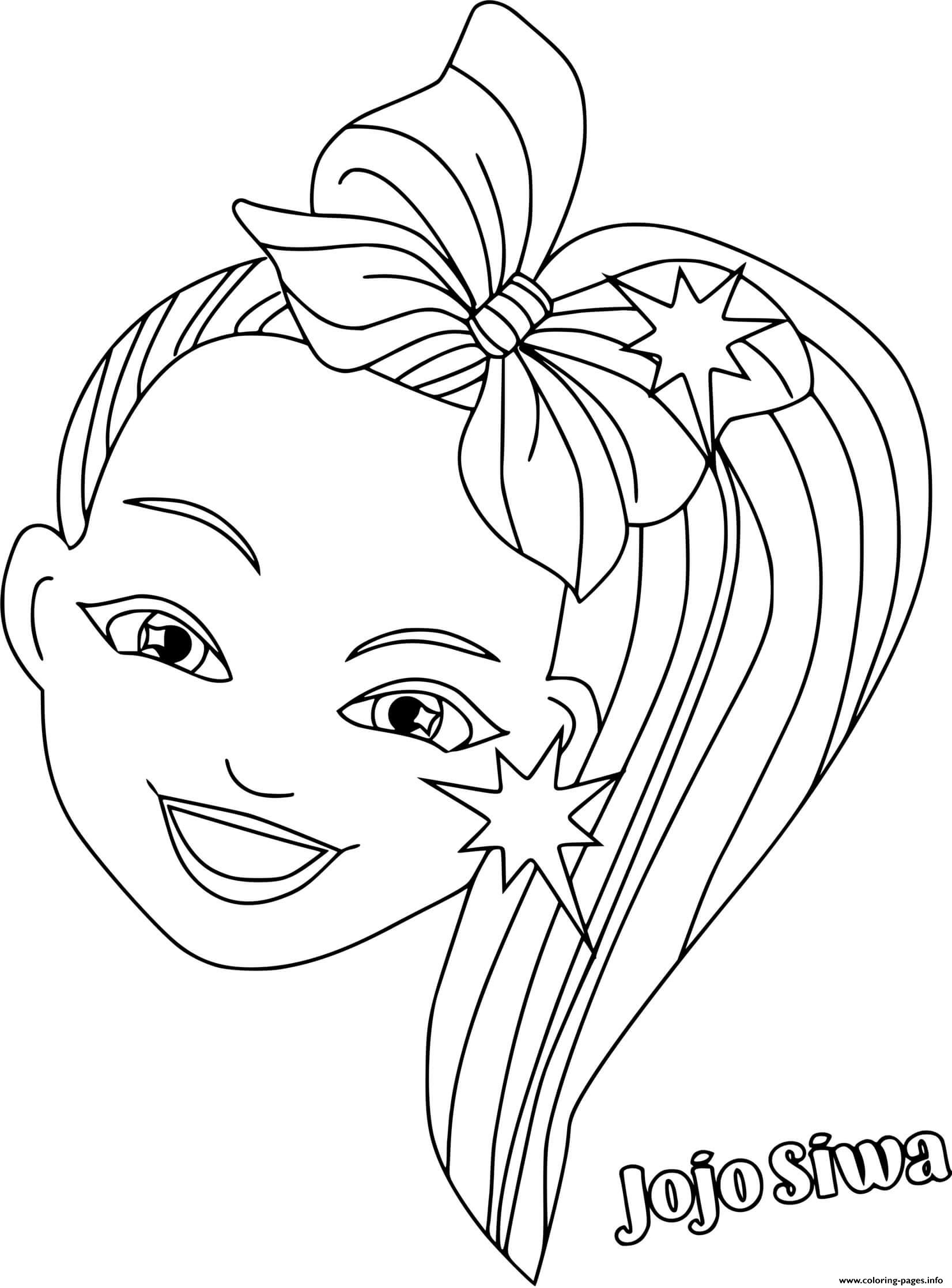 Jojo Siwa Colorful Hair Coloring Pages Printable