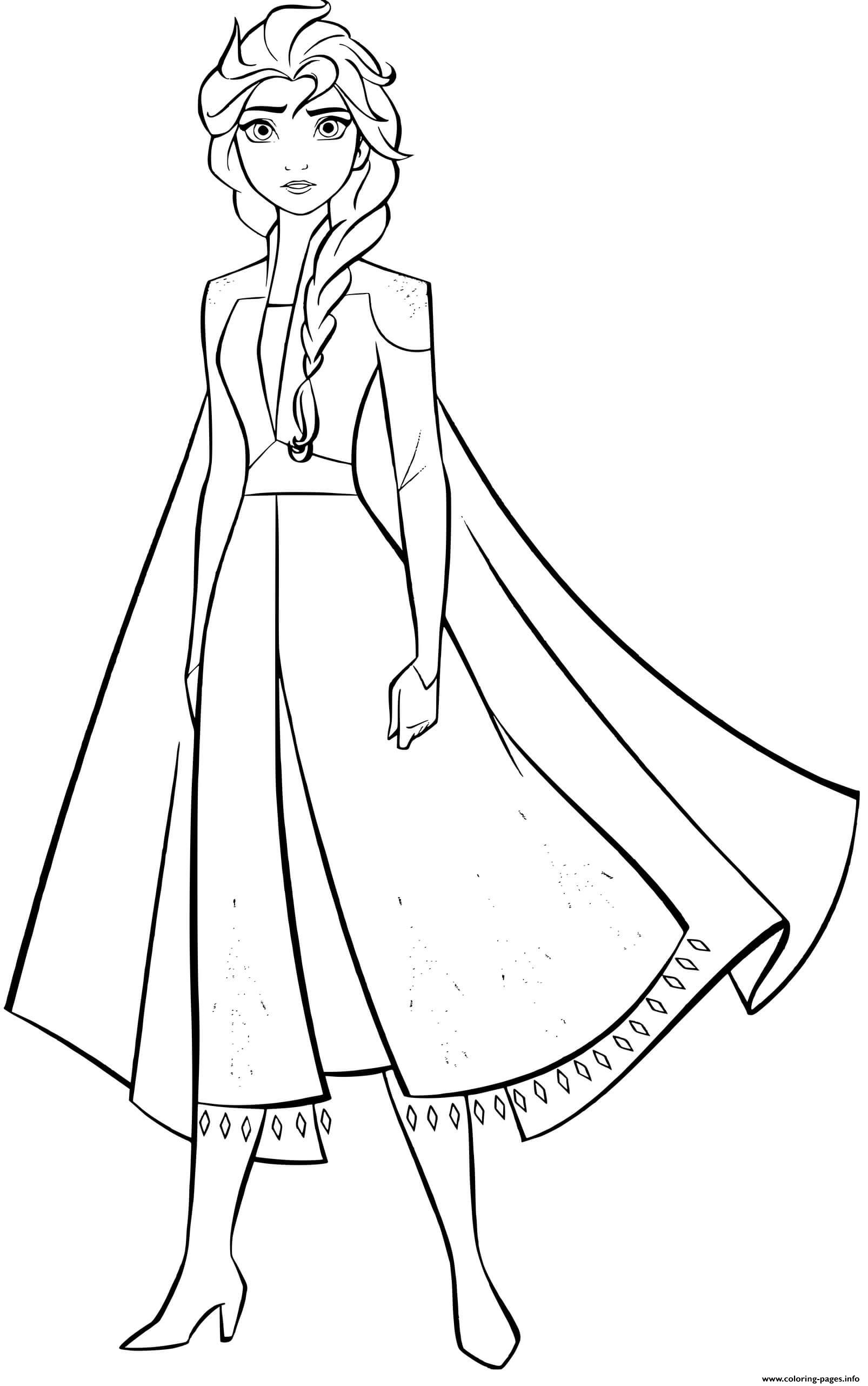 Elsa Frozen 18 Strong Woman Coloring Pages Printable