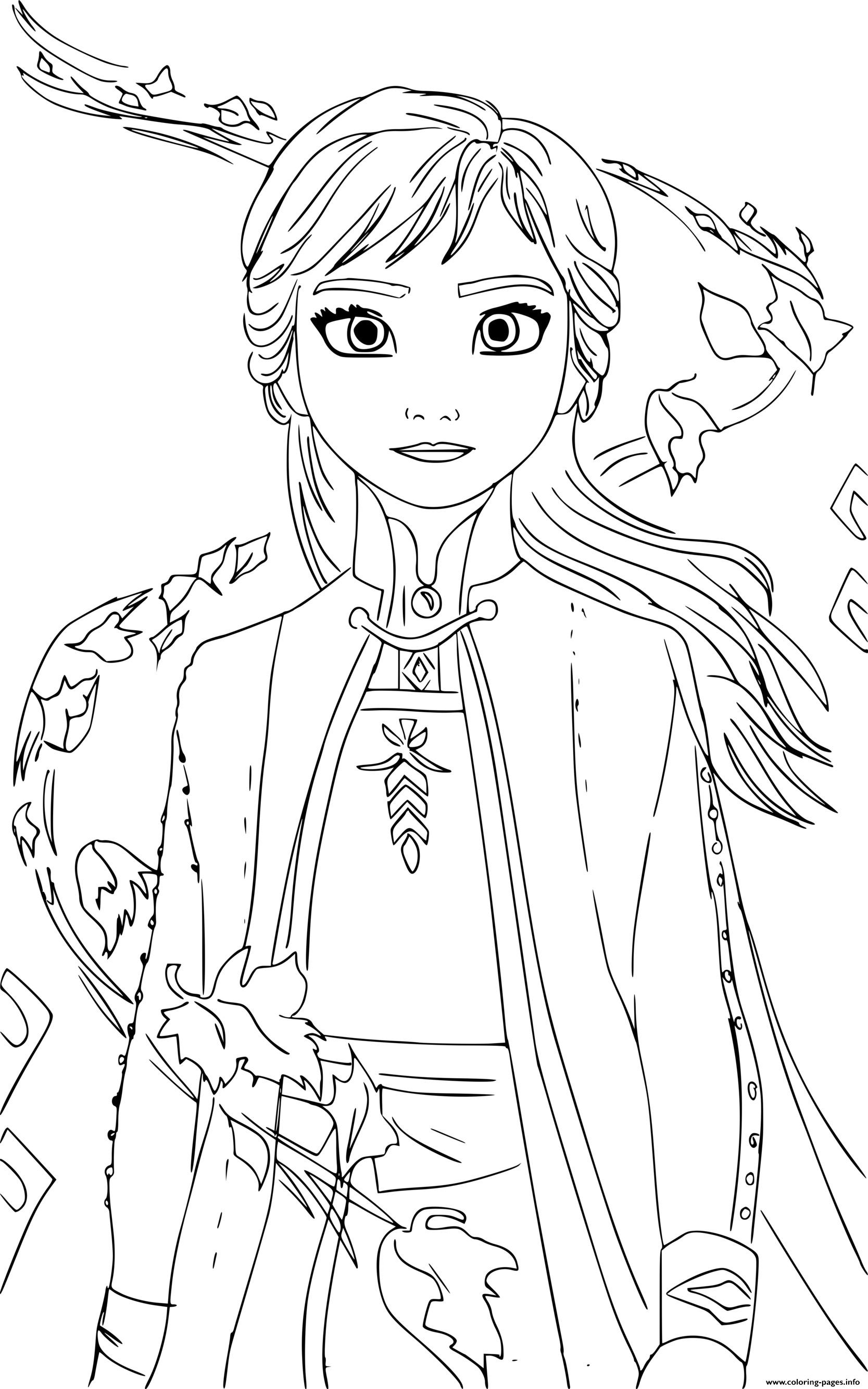 Anna Frozen 2 By Cristina Picteaza Coloring Pages Printable
