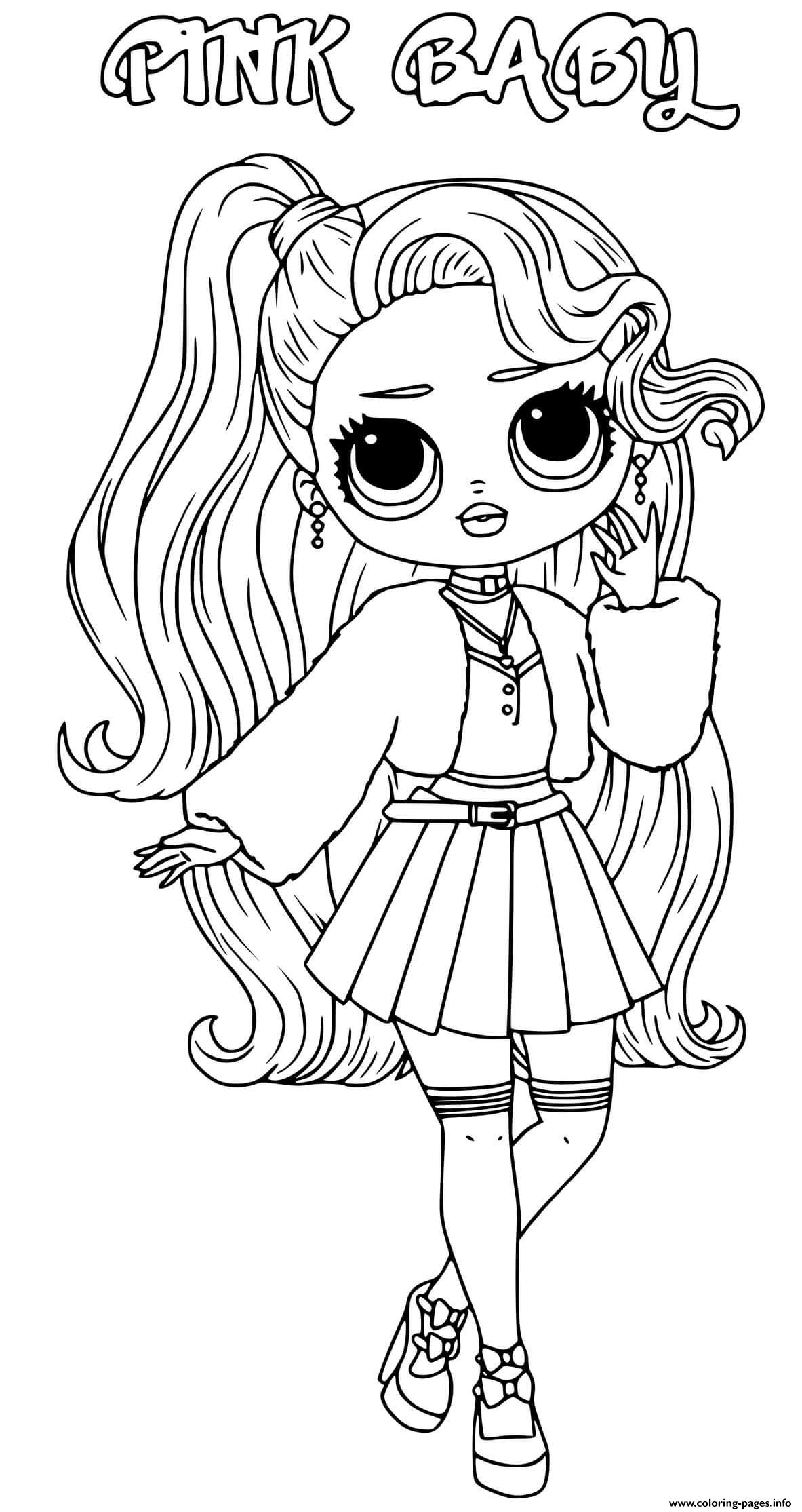 Pink Baby Lol Omg Coloring Pages Printable