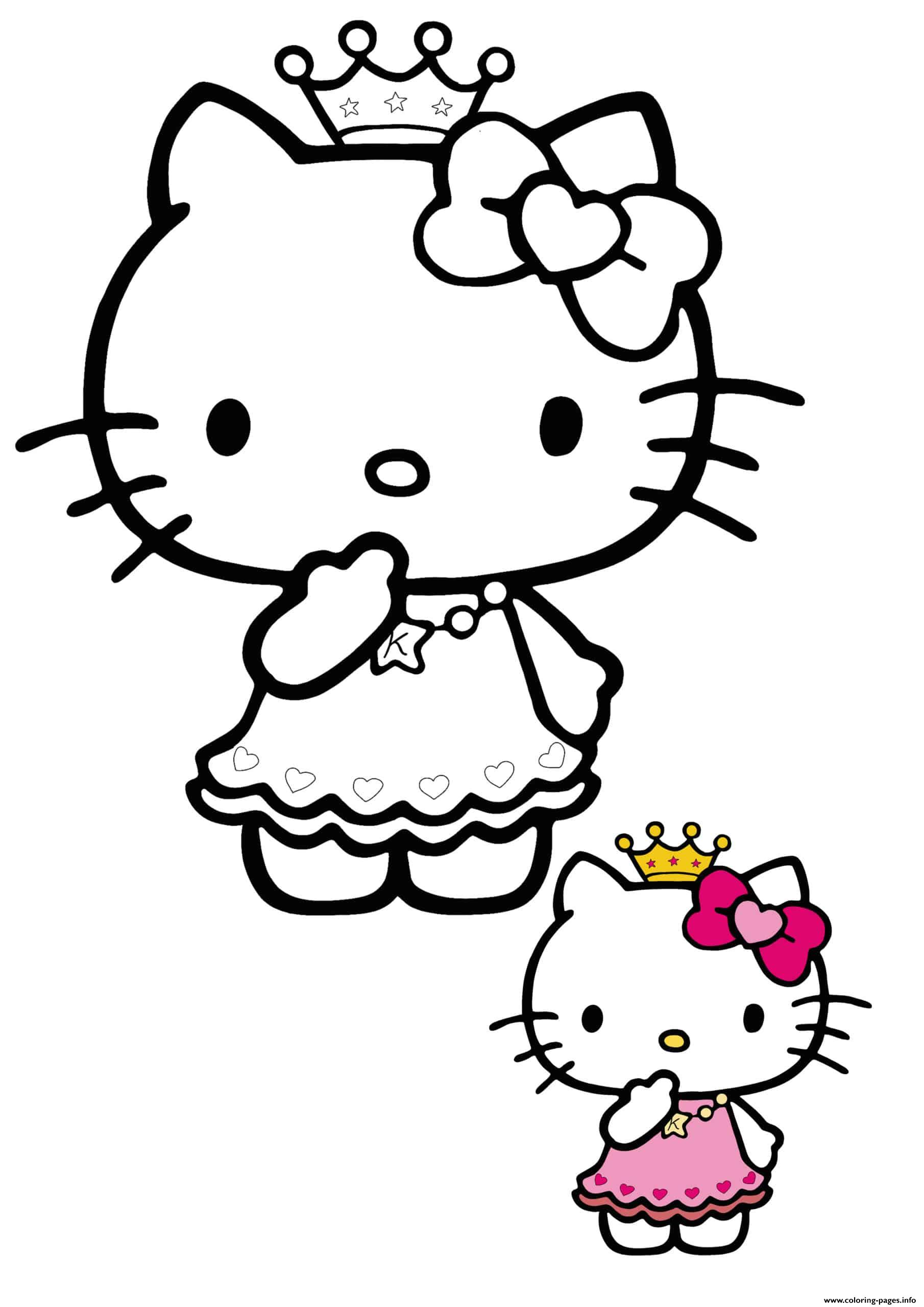 Hello Kitty Princess Coloring Pages Printable