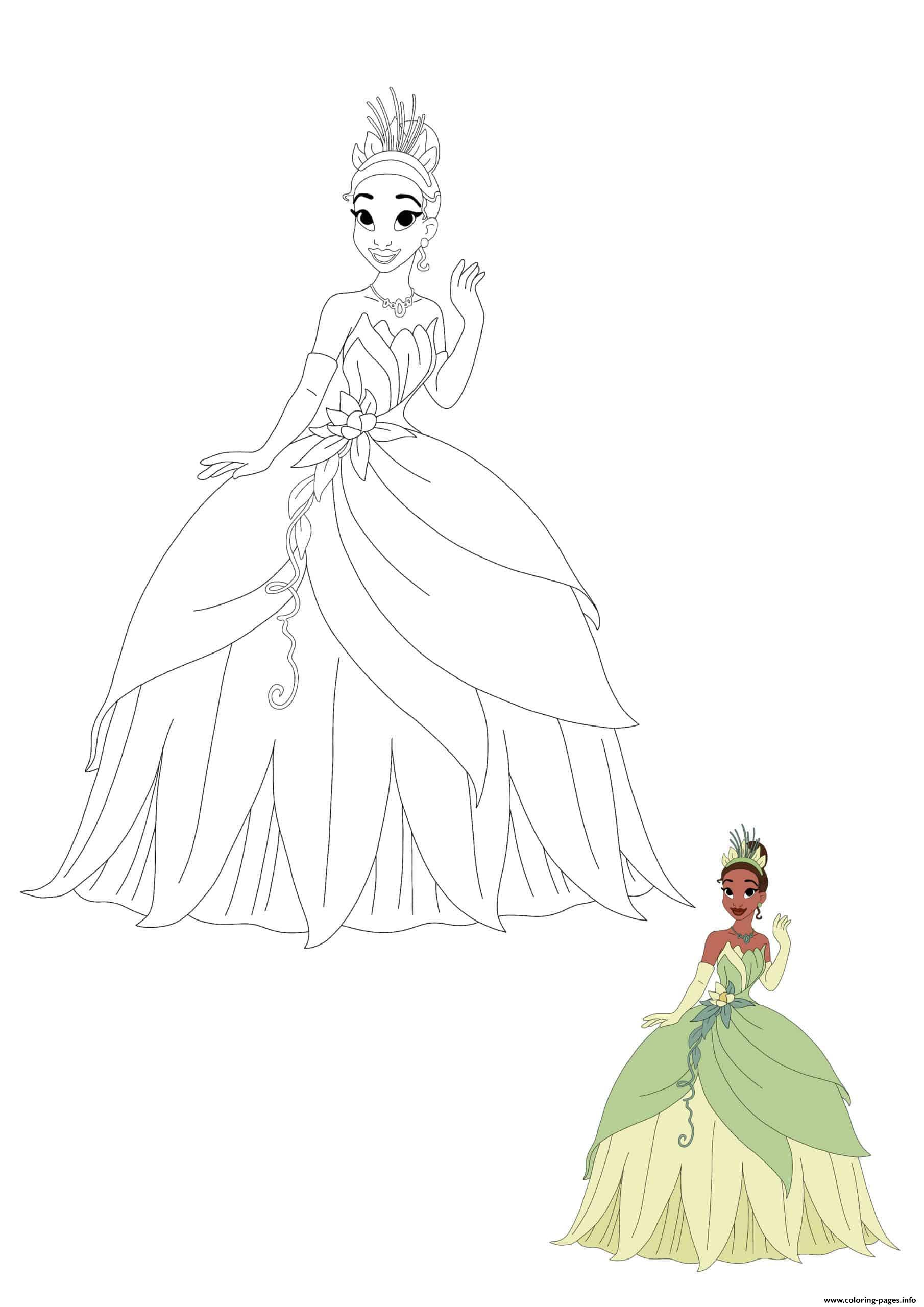 Princess Tiana Coloring Pages Printable