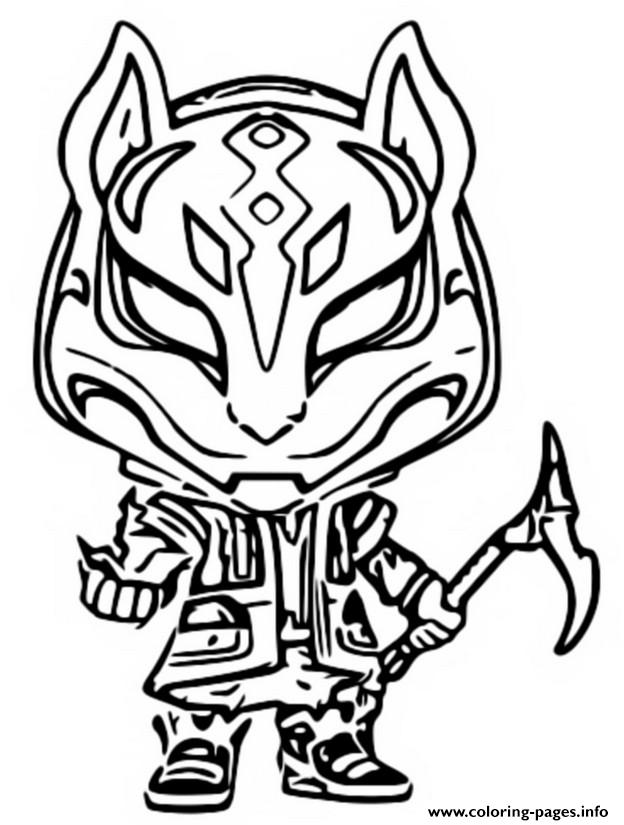 Fortnite Drift Mask Coloring Pages Funko Pop Fortnite Drift Coloring Pages Printable