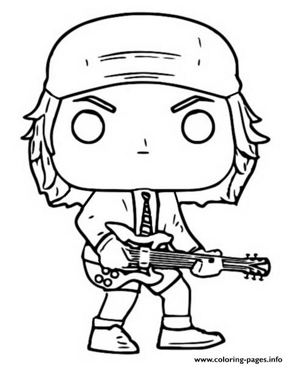 Funko Pop Rock Ac Dc Angus Young coloring pages