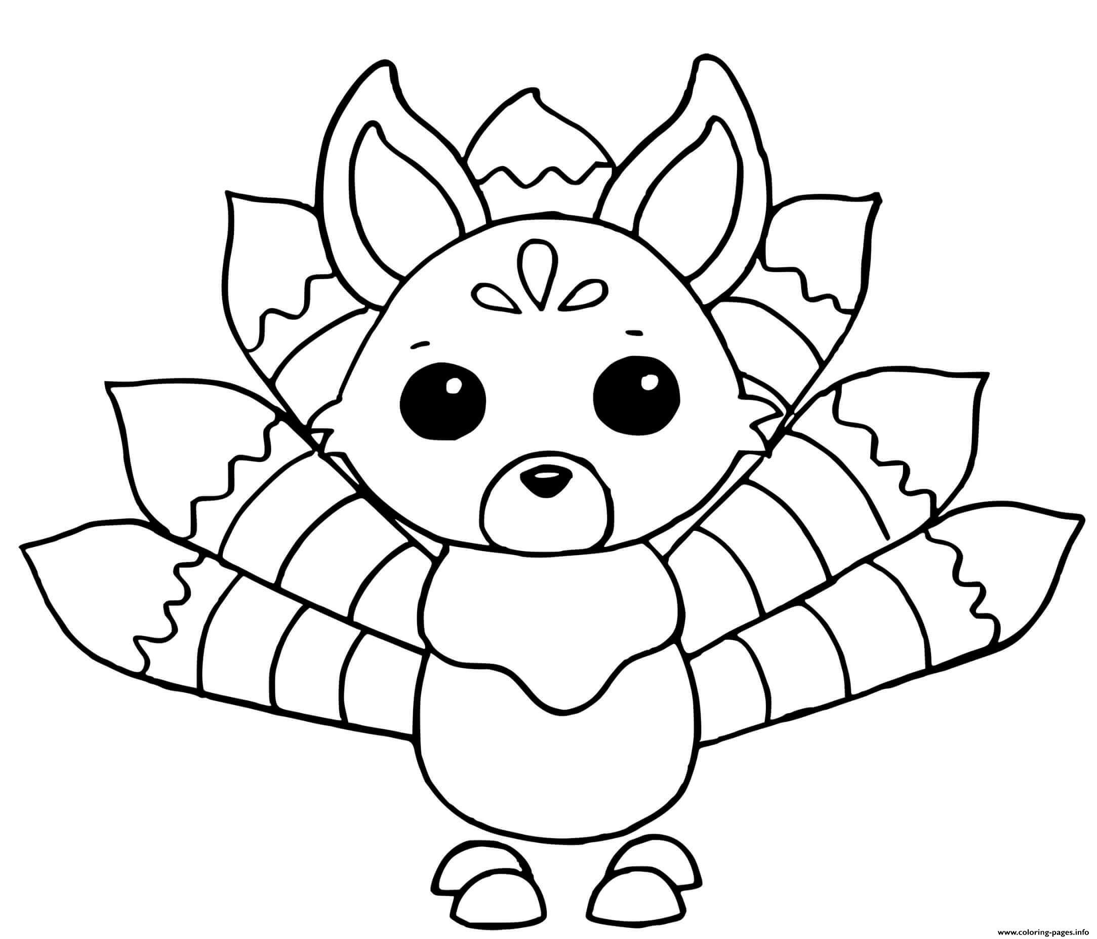 Adopt Me Kitsune Coloring Pages Printable