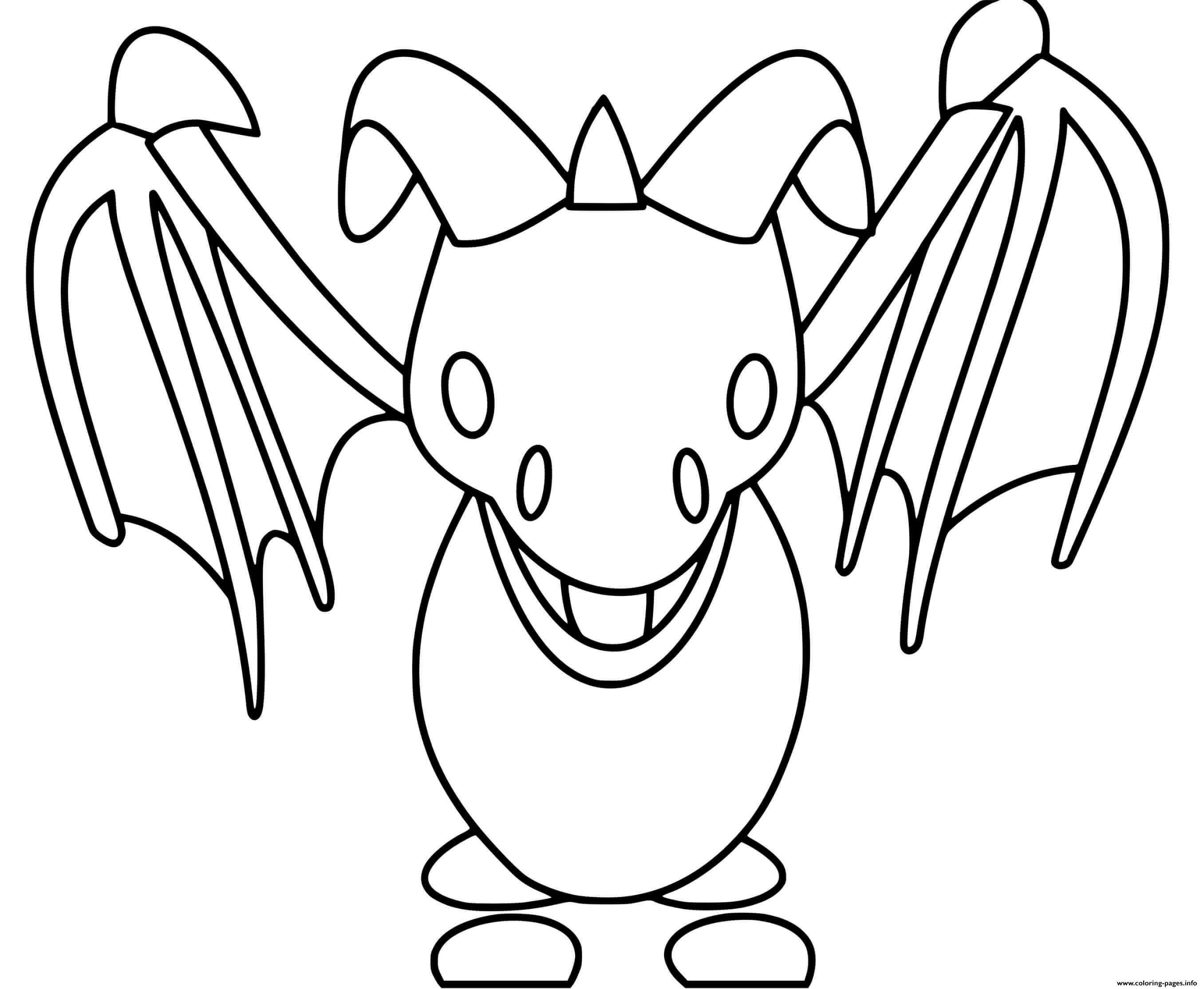 Roblox Adopt Me Frost Dragon Fly Coloring Pages Printable