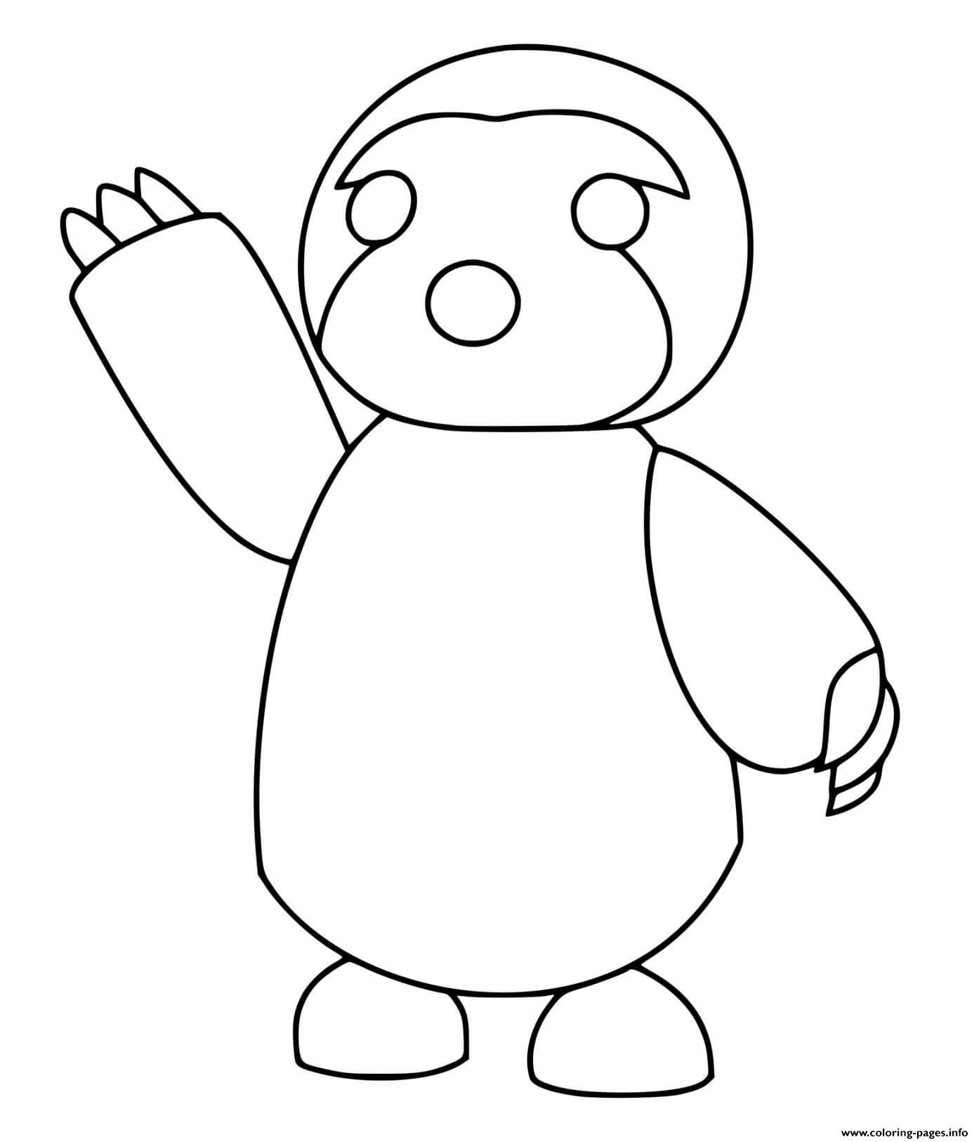 Roblox Adopt Me Sloth Coloring Pages Printable