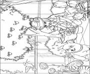 Printable barbie thumbelina 06 coloring pages