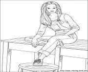 Printable barbie63 coloring pages
