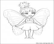 Printable barbie mariposa 03 coloring pages